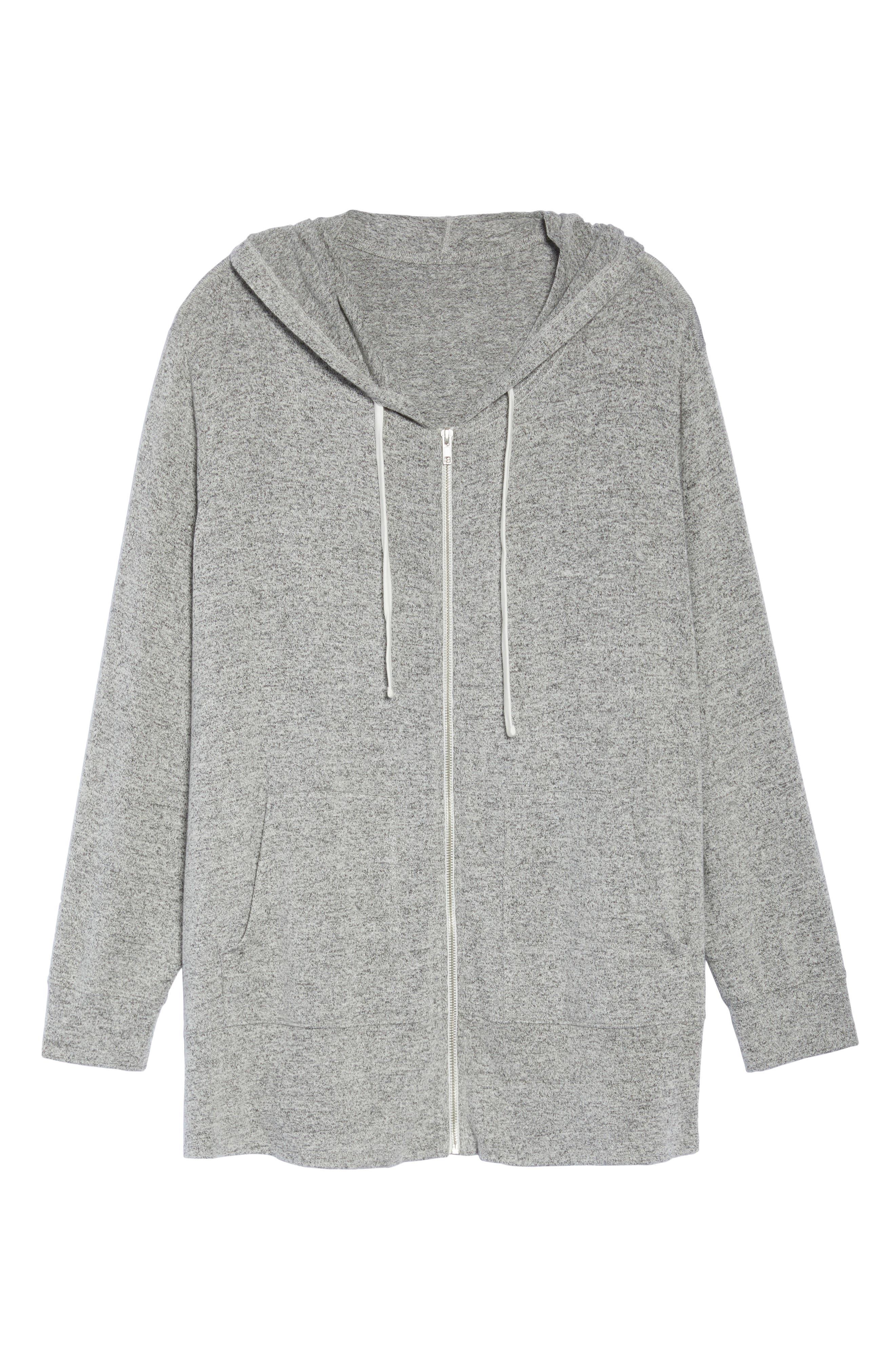 Alternate Image 6  - Sejour Zip Front Hoodie (Plus Size)