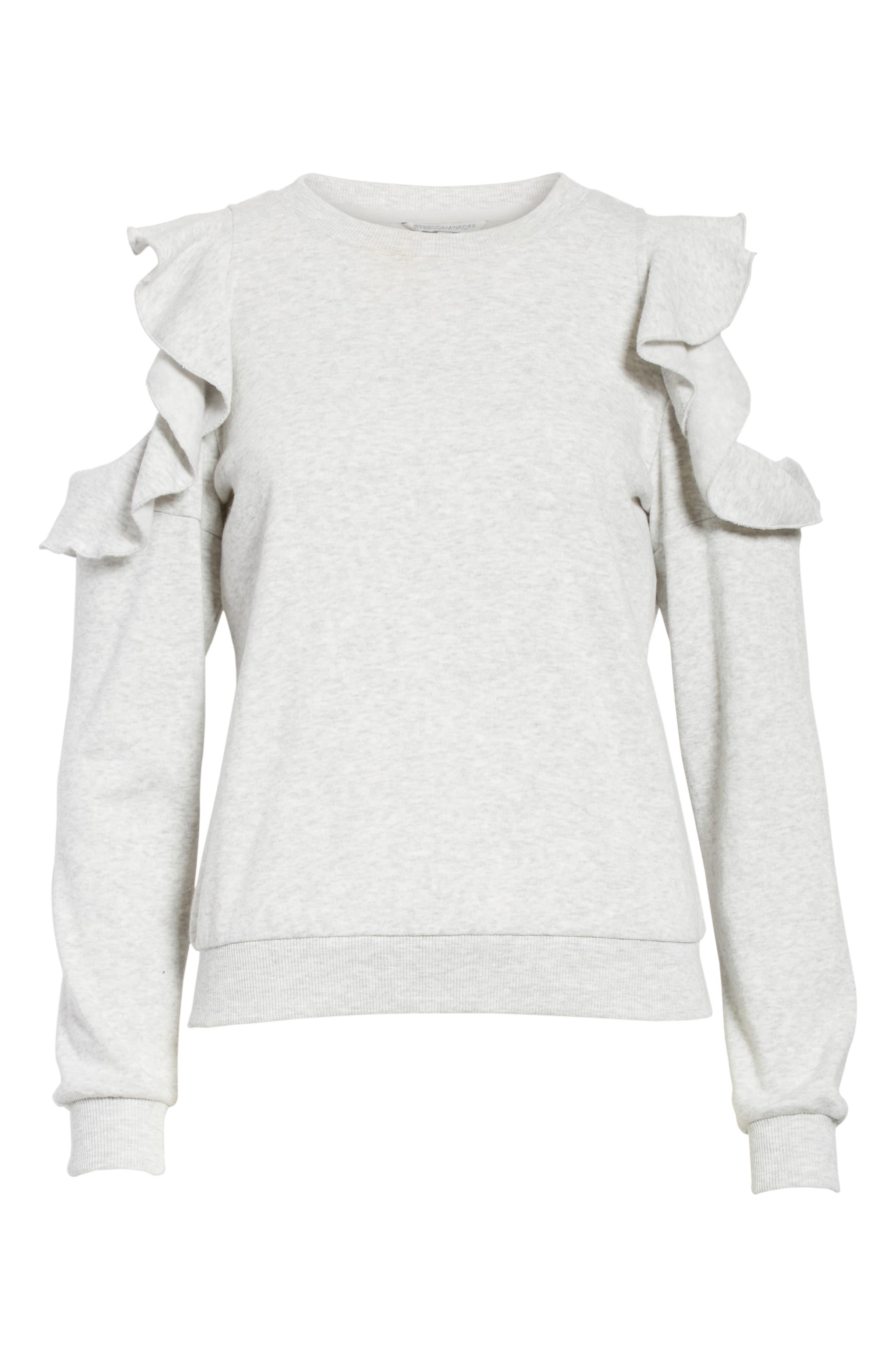 Alternate Image 7  - Rebecca Minkoff Gracie Cold Shoulder Sweatshirt