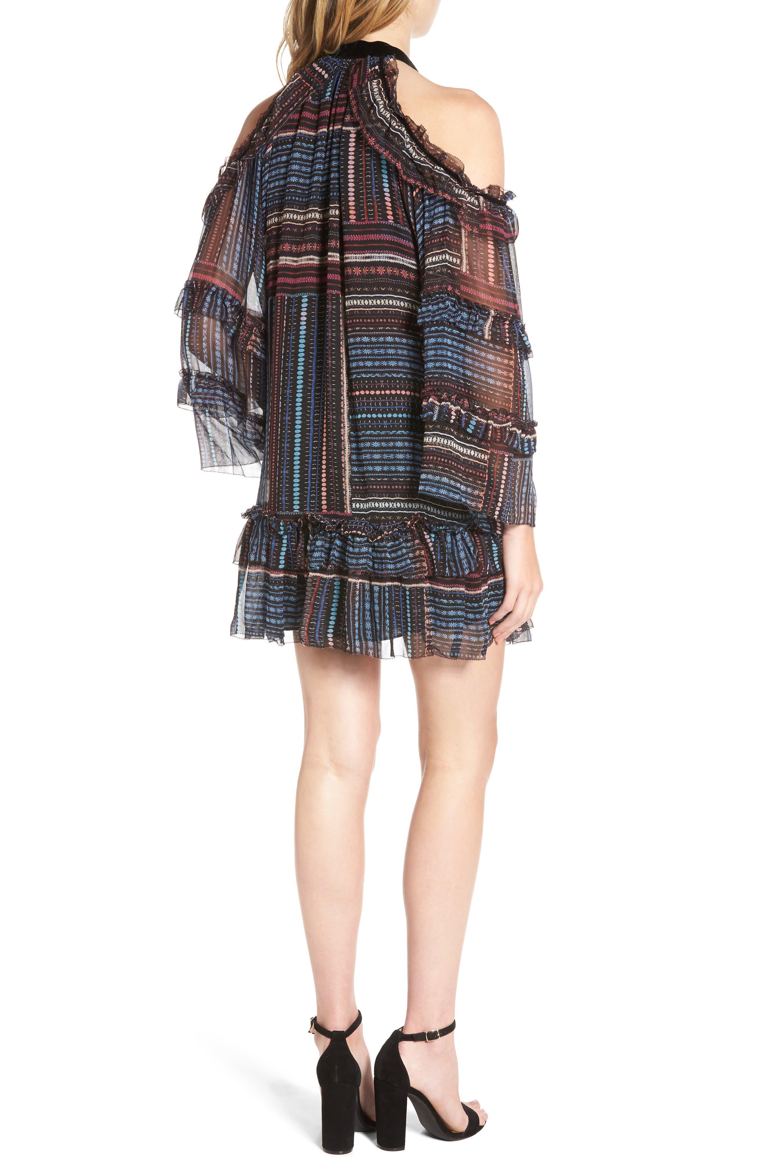 Alternate Image 2  - Parker Bianca Cold Shoulder Silk Shift Dress
