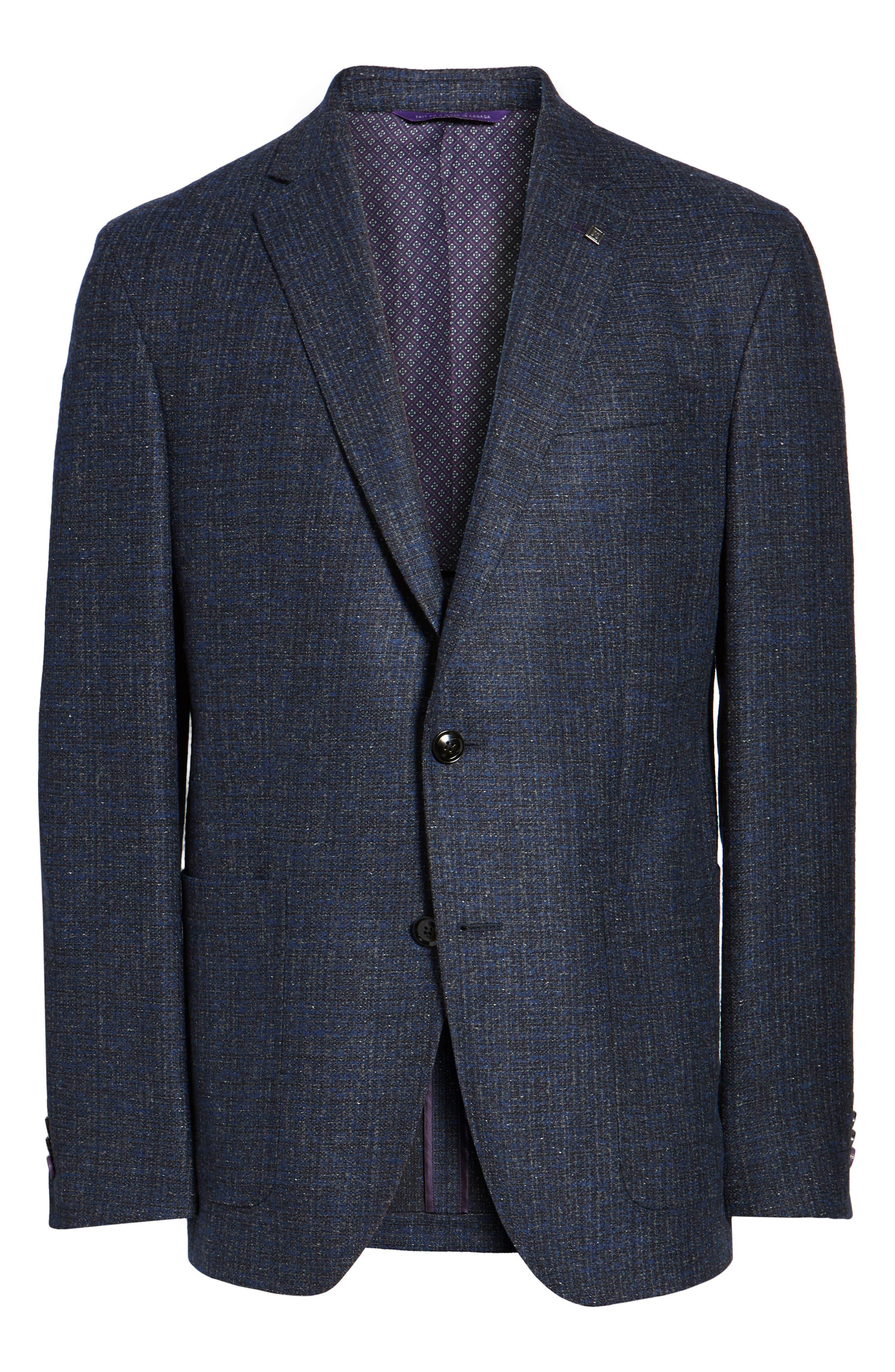 Alternate Image 6  - Ted Baker London Kyle Trim Fit Wool Blend Blazer