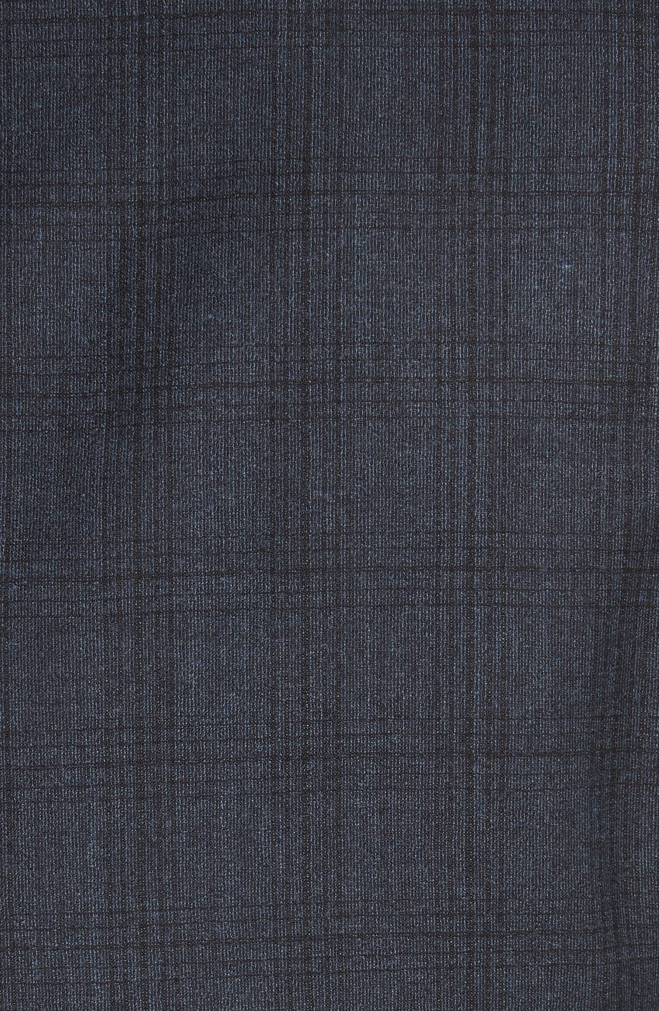 G-Line Trim Fit Plaid Wool Suit,                             Alternate thumbnail 6, color,                             Navy