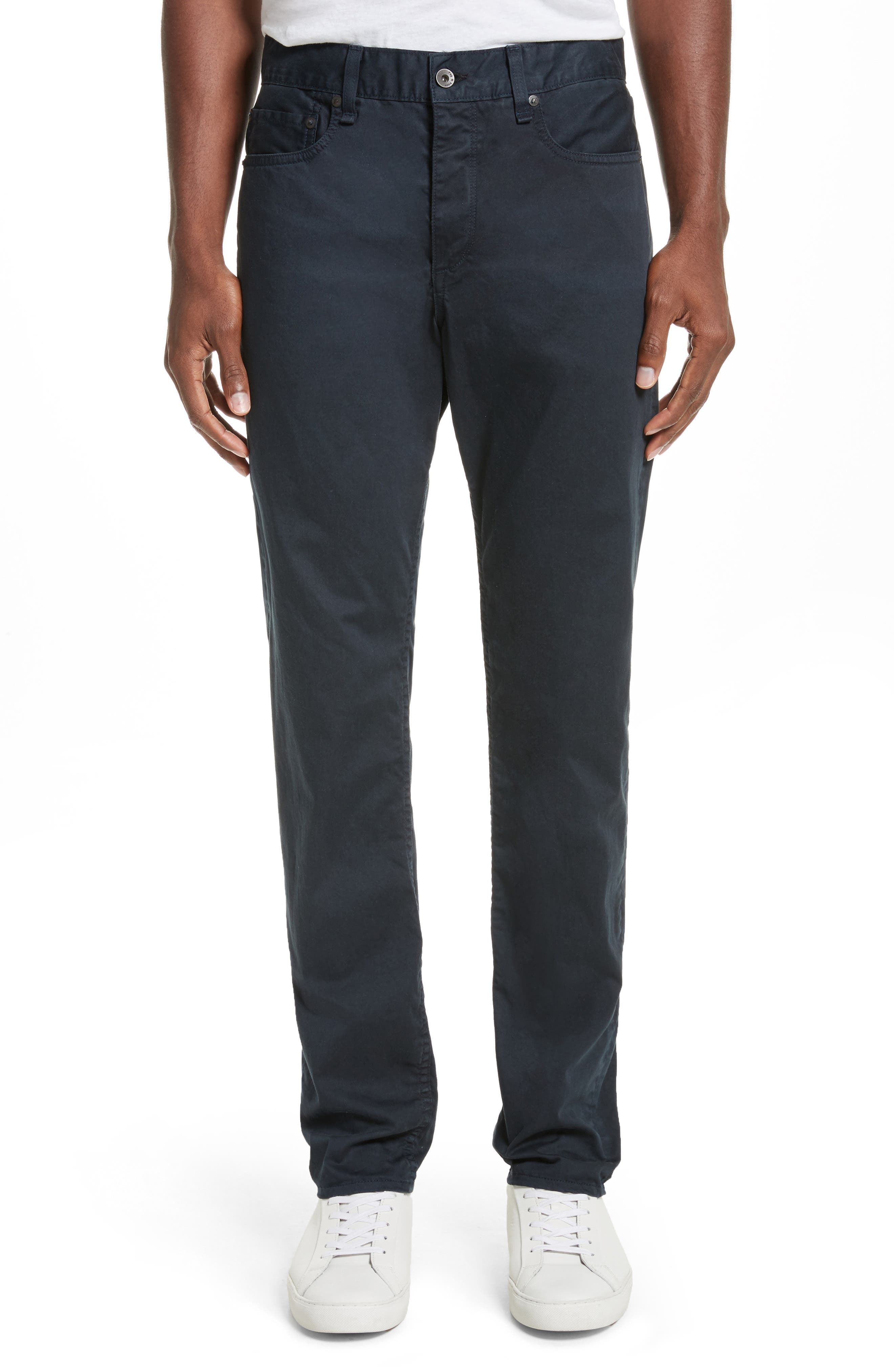 Fit 3 Twill Pants,                         Main,                         color, Navy