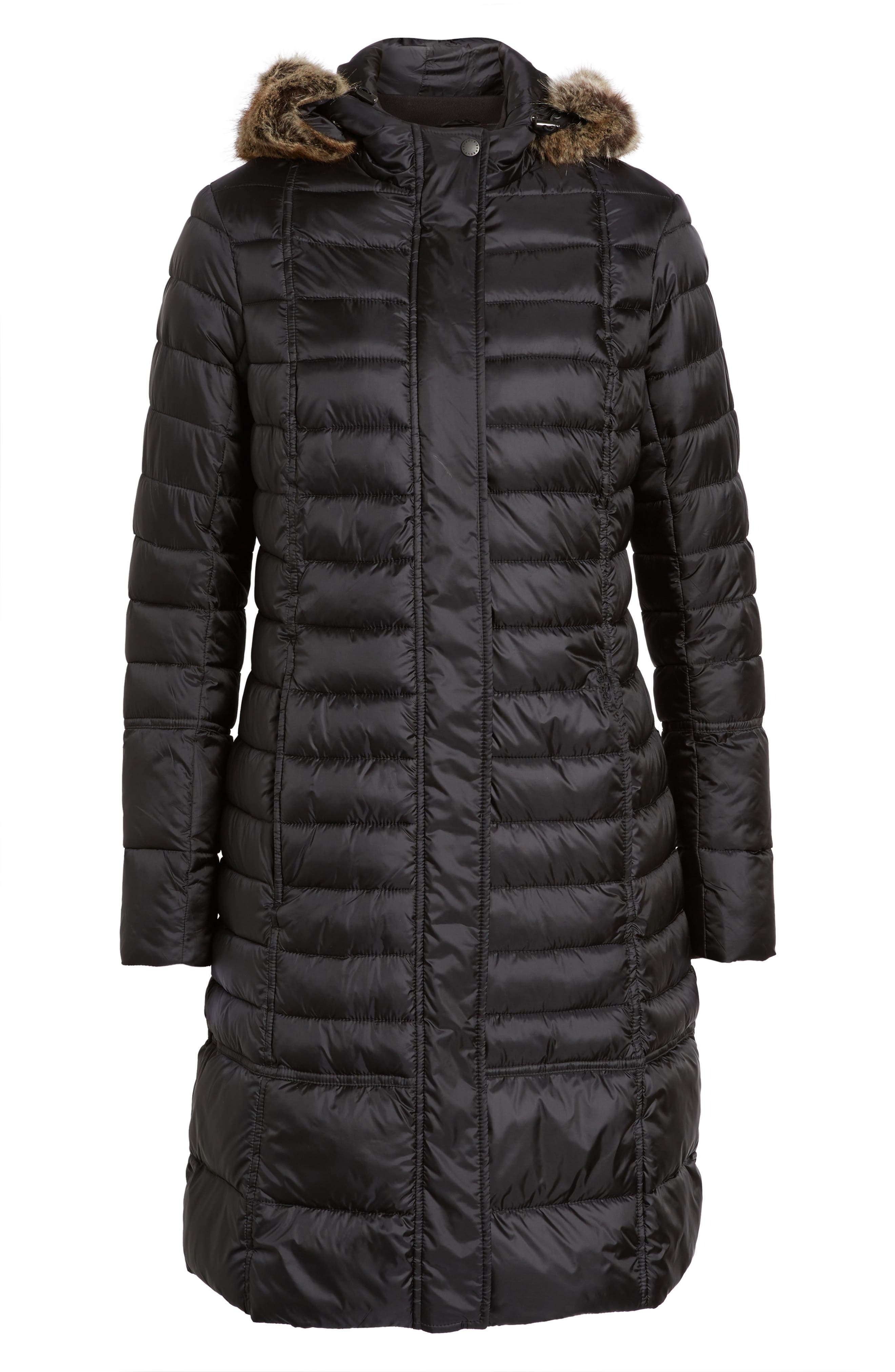 Alternate Image 6  - Barbour Fortrose Hooded Quilted Coat with Faux Fur Trim