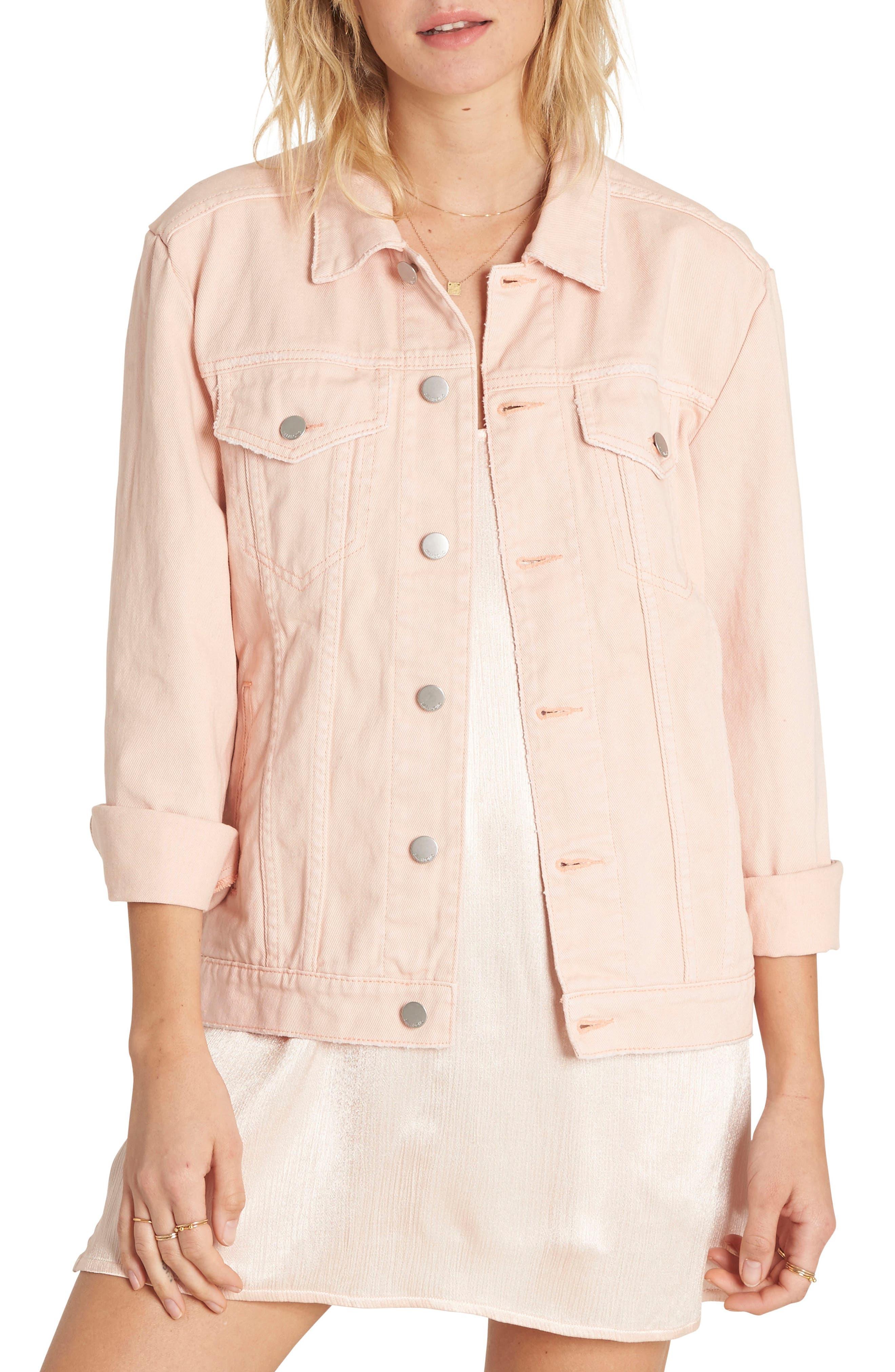 Always Truckin' Denim Jacket,                         Main,                         color, Pearl Pink