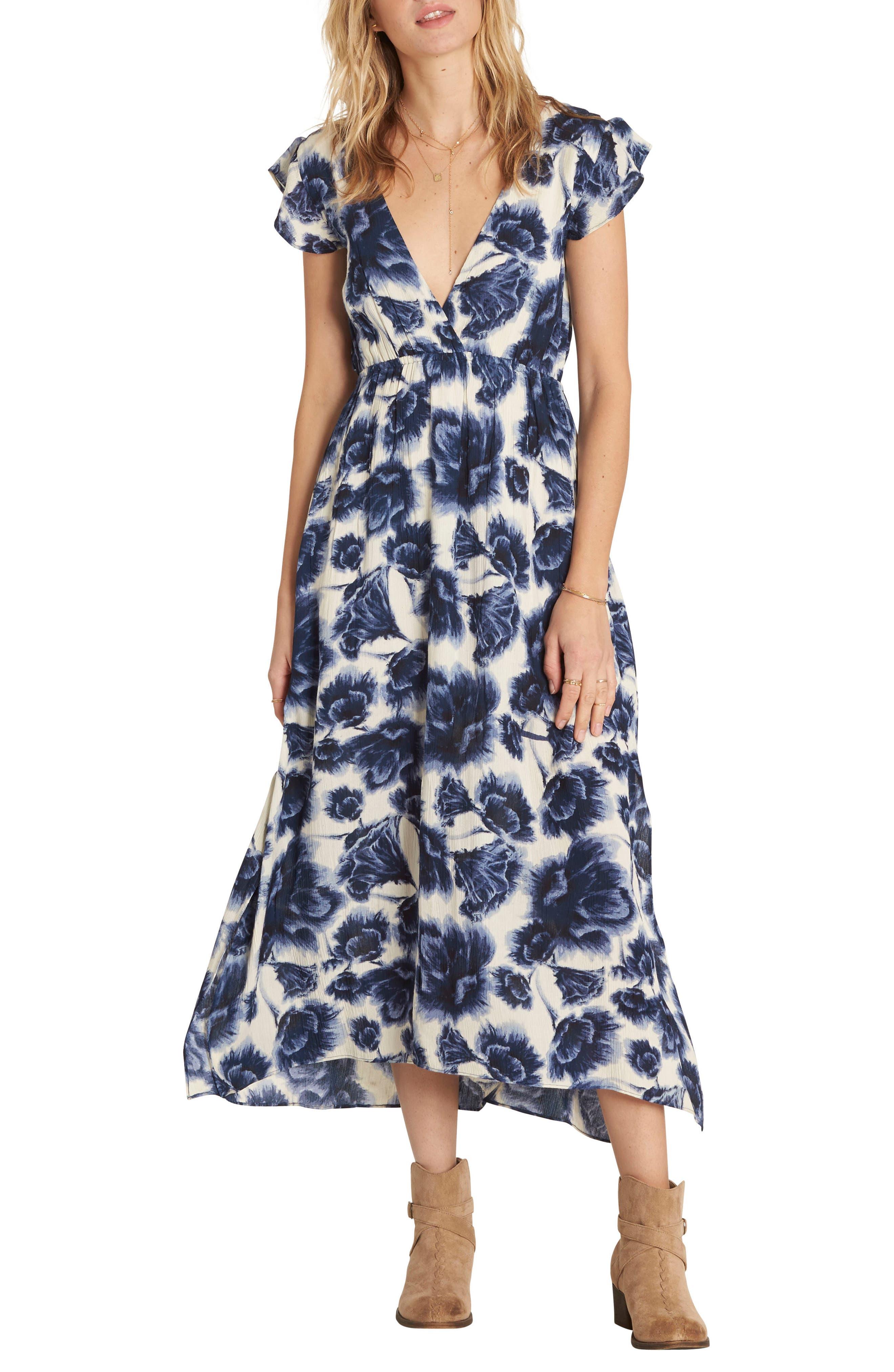 Billabong Don't Mess Floral Print Dress
