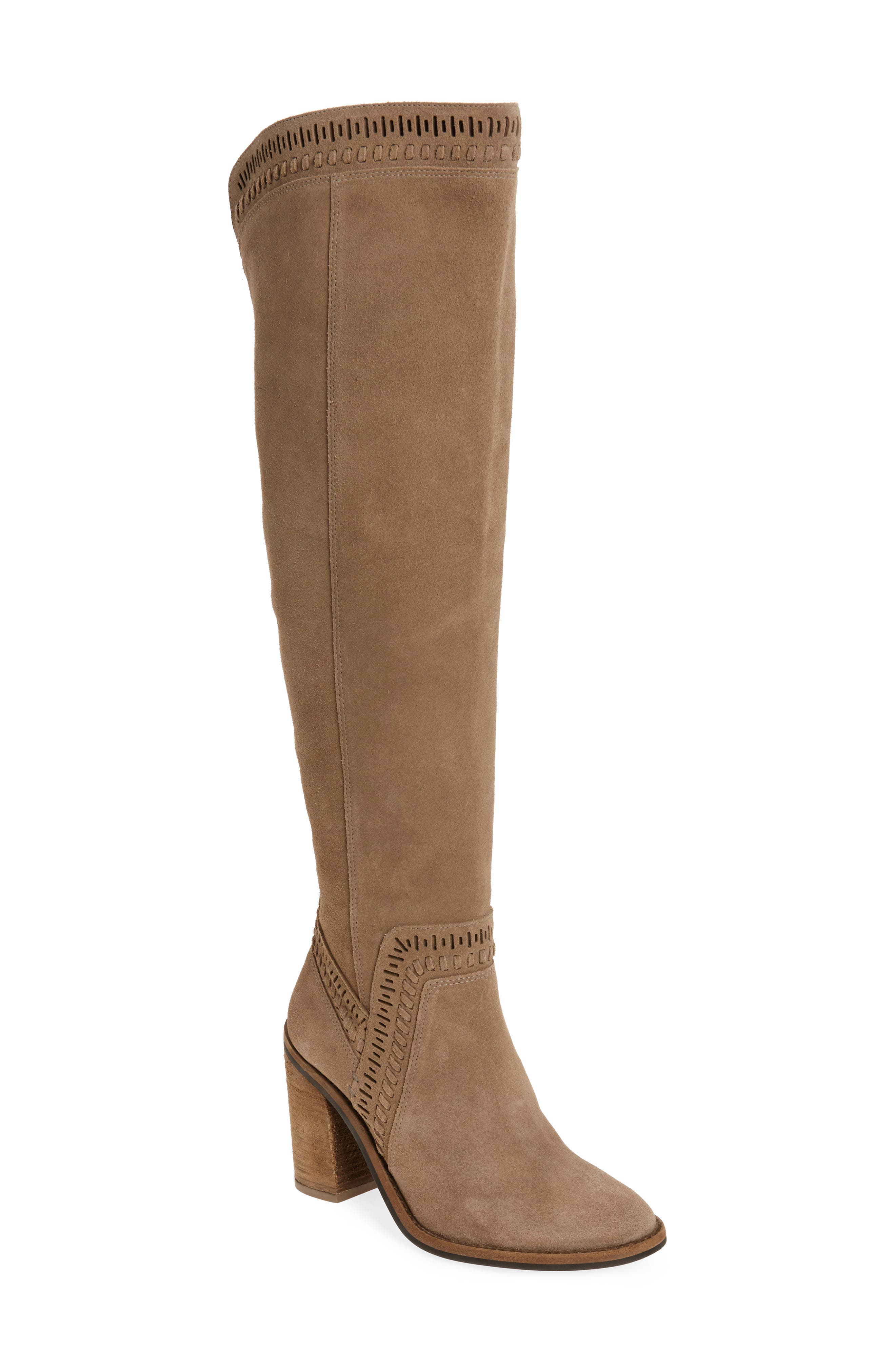 Madolee Over the Knee Boot,                             Main thumbnail 1, color,                             Foxy