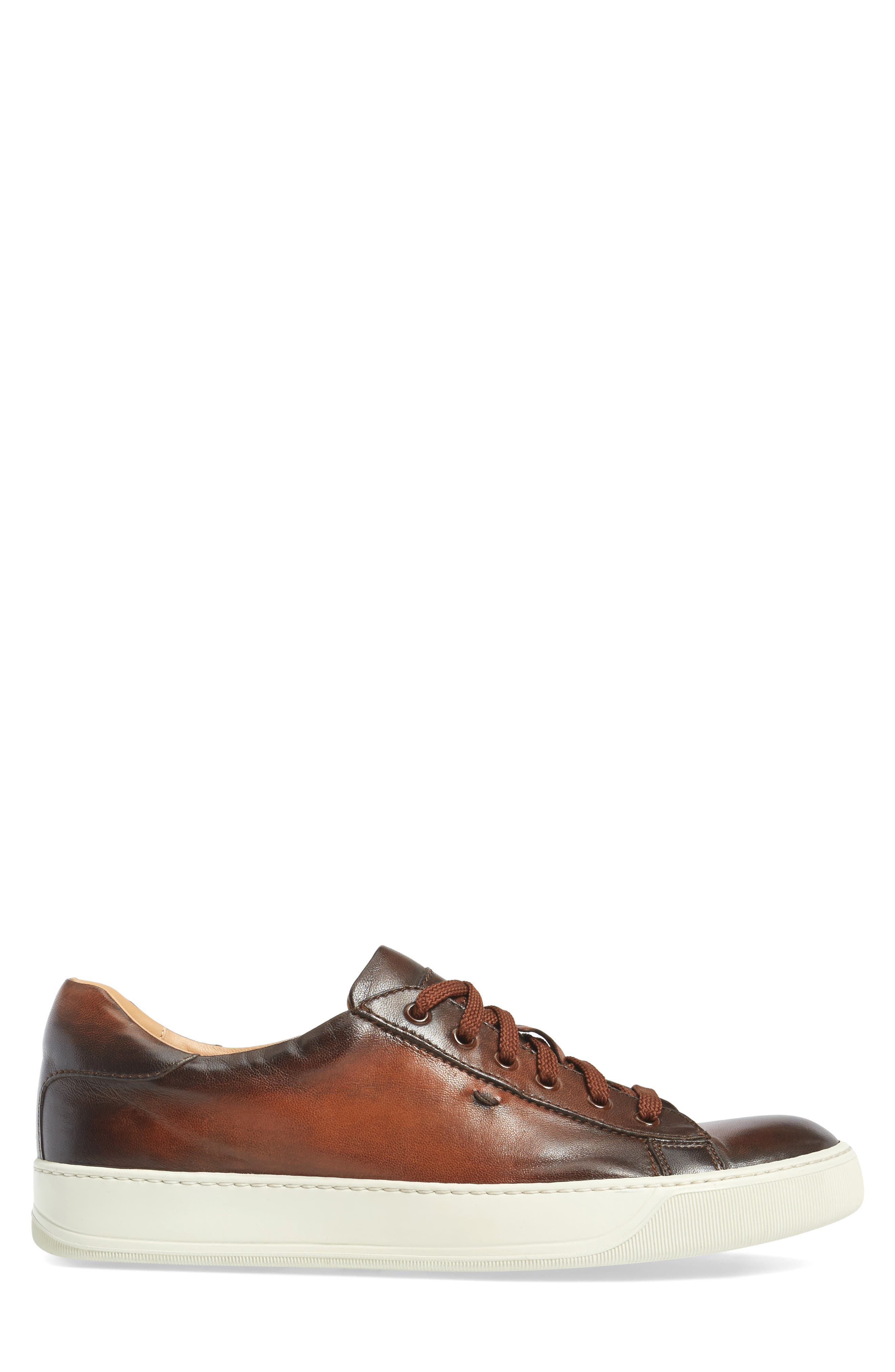 'Apache' Lace-Up Sneaker,                             Alternate thumbnail 3, color,                             Brown