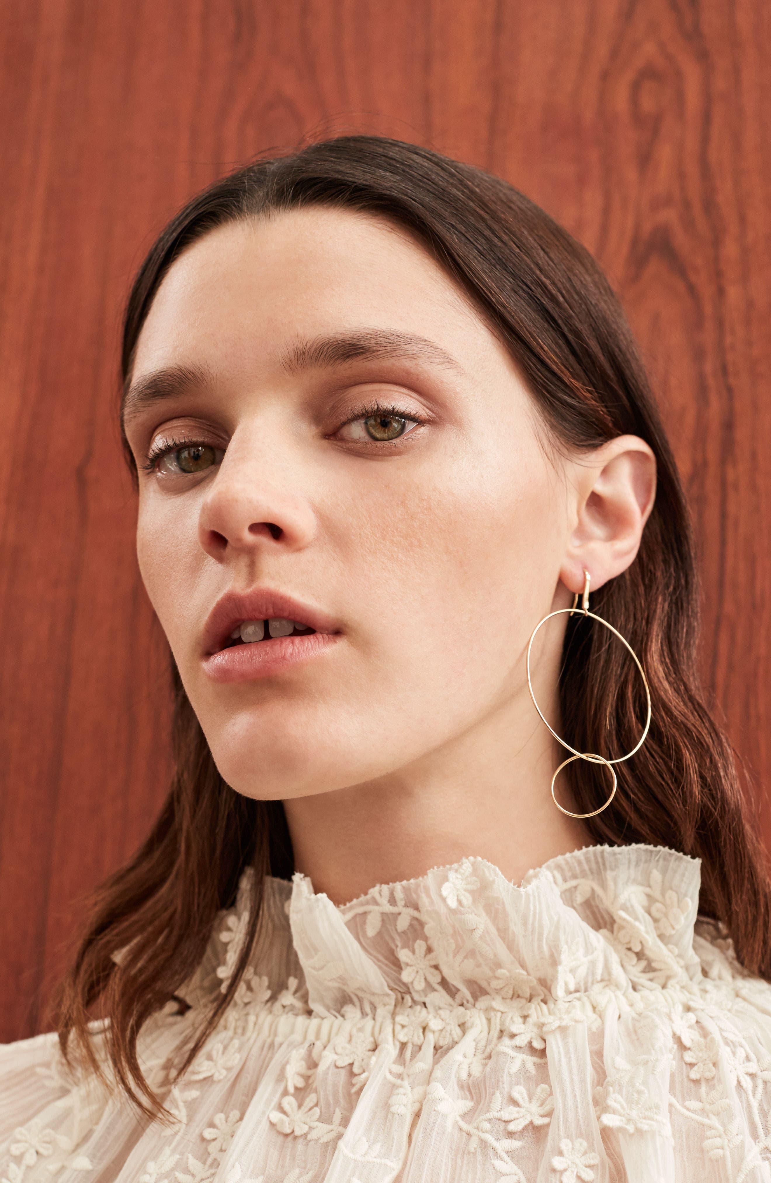 Frontal Hoop Earrings,                             Alternate thumbnail 3, color,