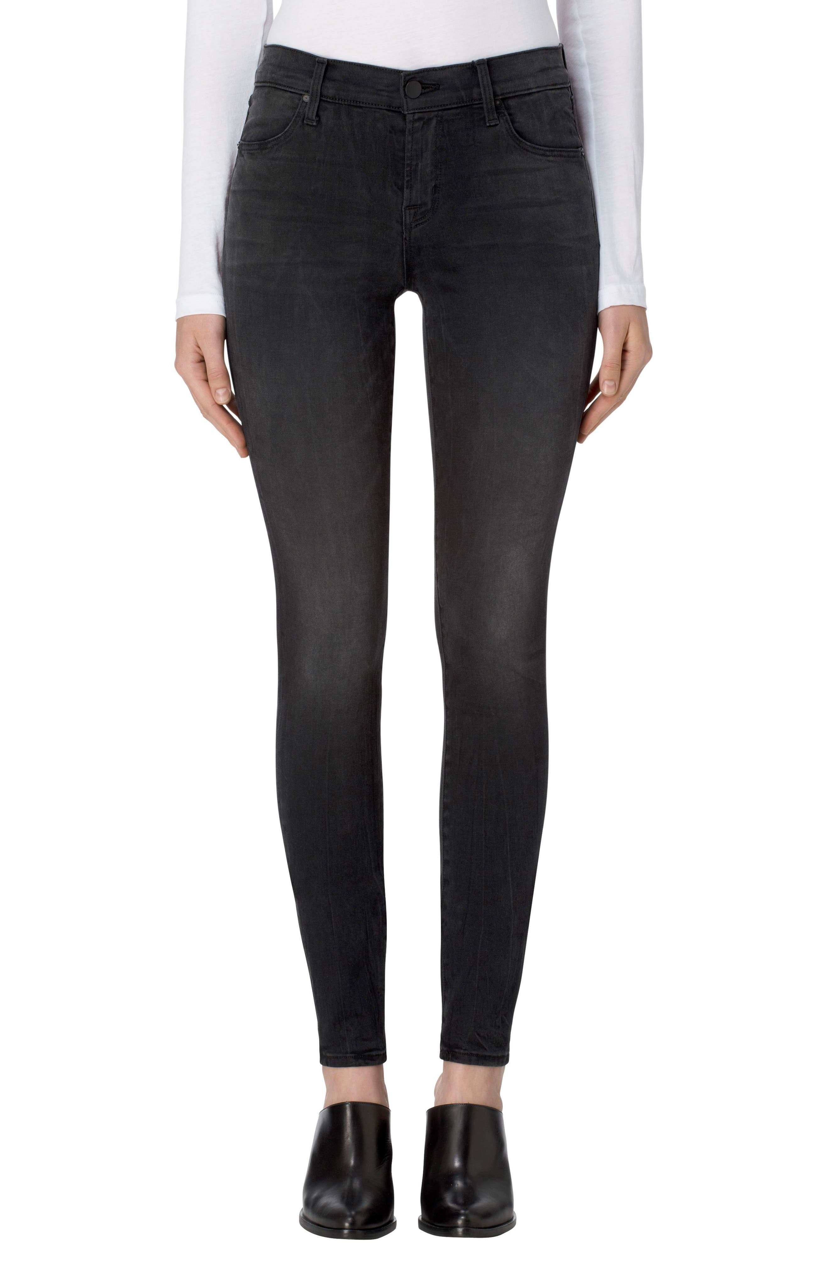 Alternate Image 1 Selected - J Brand 620 Mid Rise Super Skinny Jeans (Dark Sanctify)