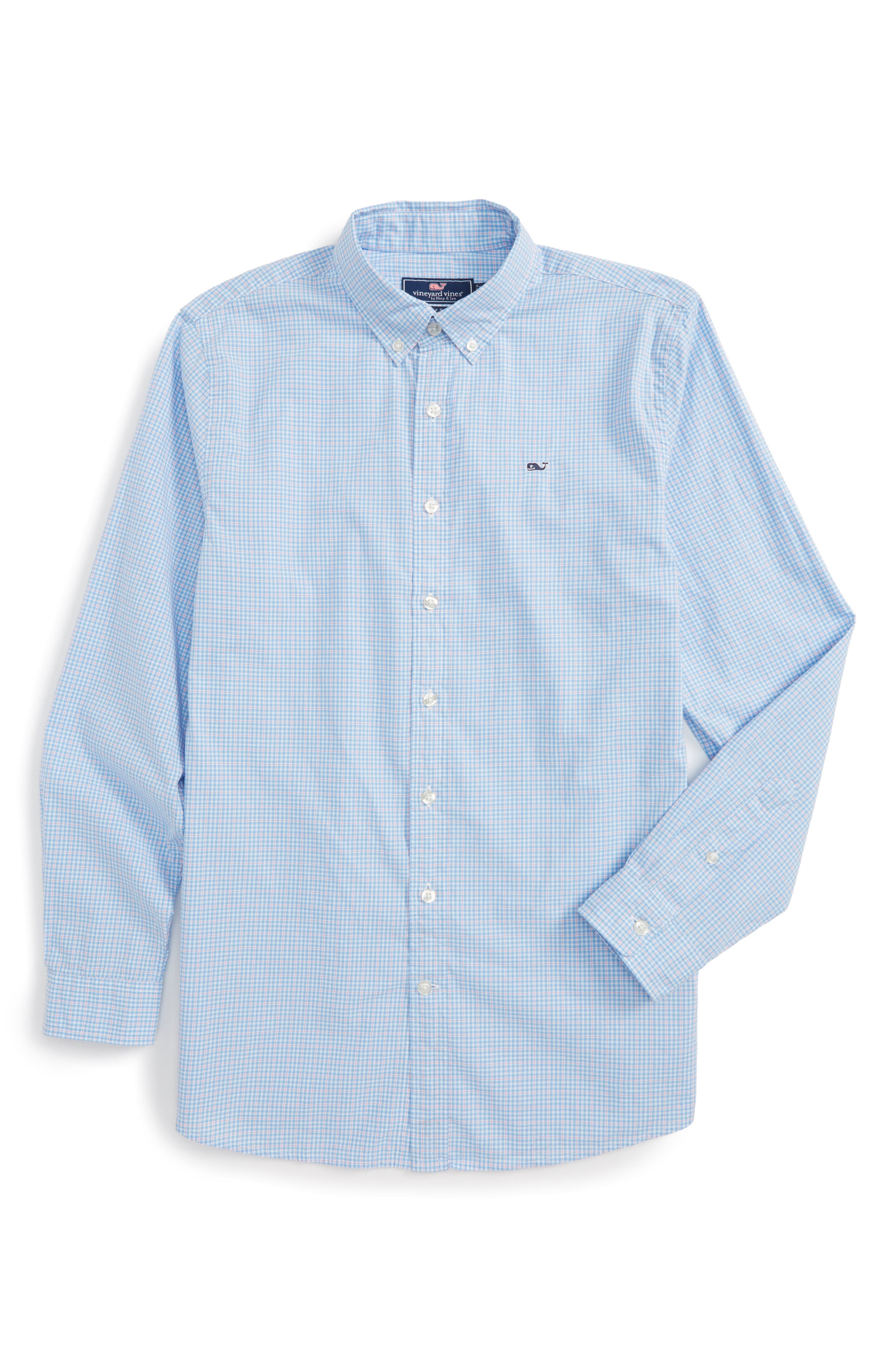 Vineyard Vines Stowaway Plaid Shirt (Big Boys)