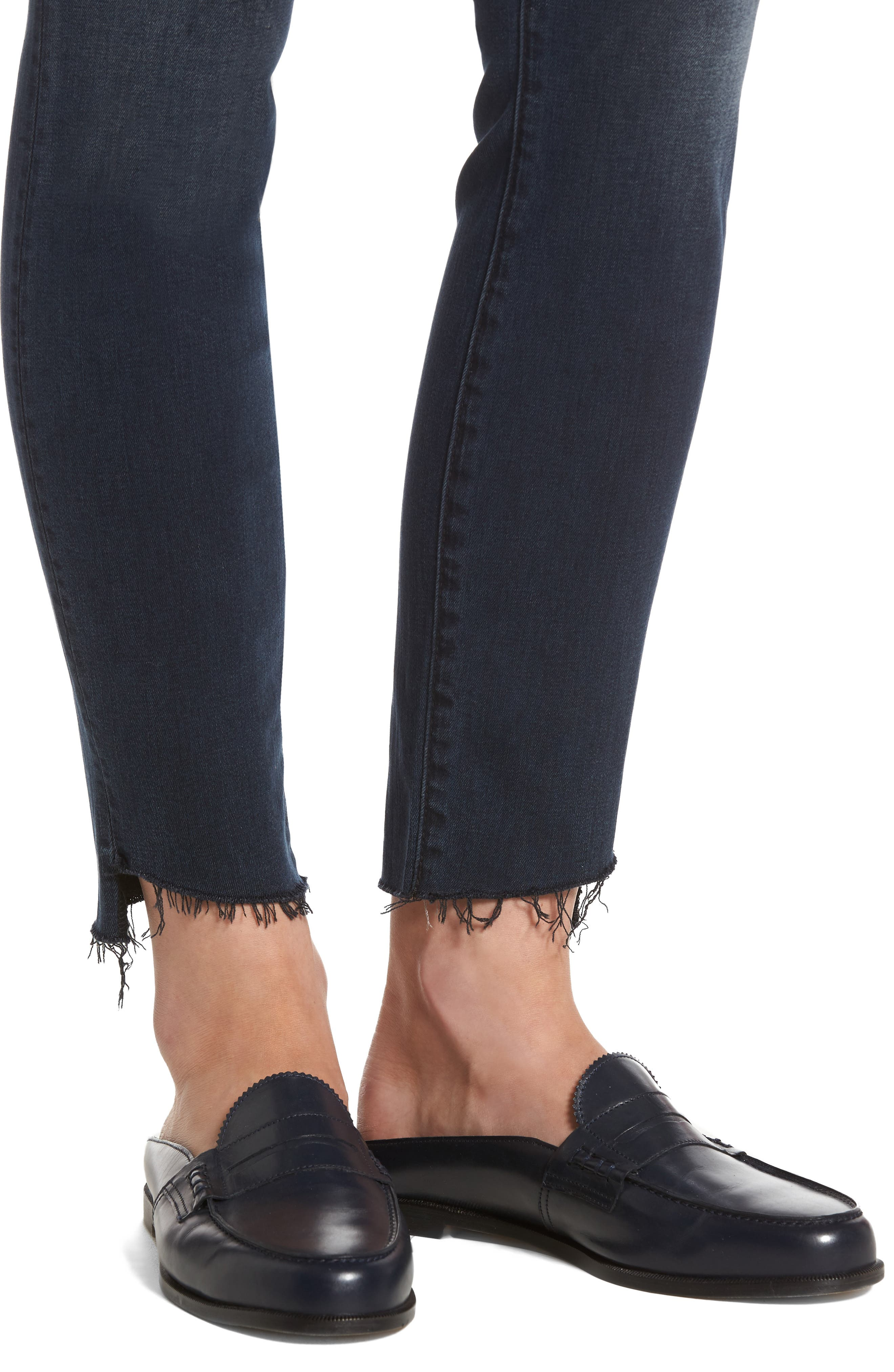 The Stunner High Waist Frayed Step Hem Jeans,                             Alternate thumbnail 4, color,                             My Wildest Ride