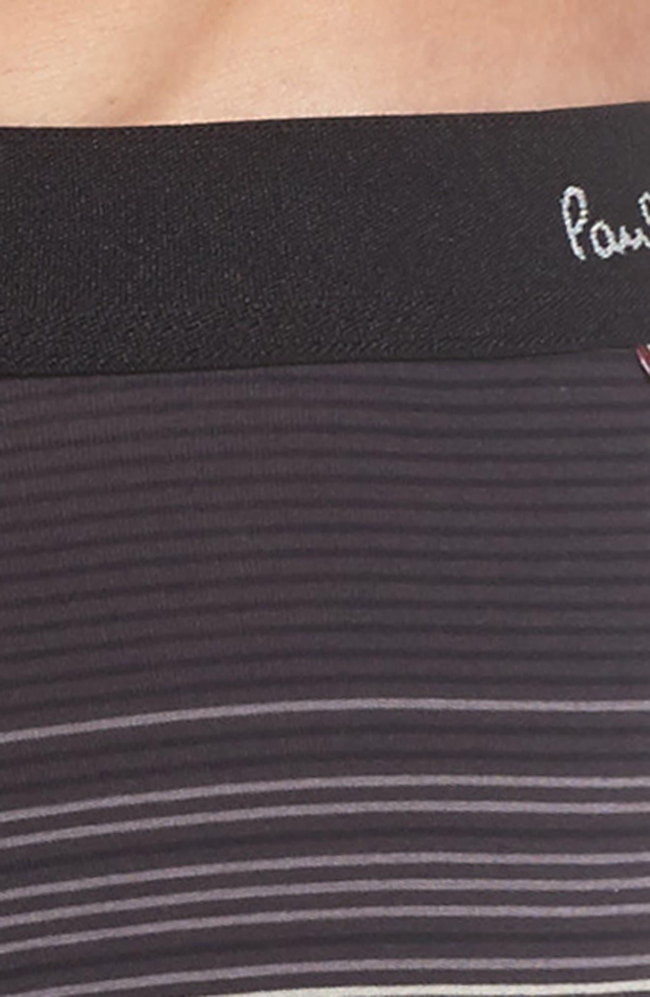 Stripe Stretch Cotton Trunks,                             Alternate thumbnail 4, color,                             Black