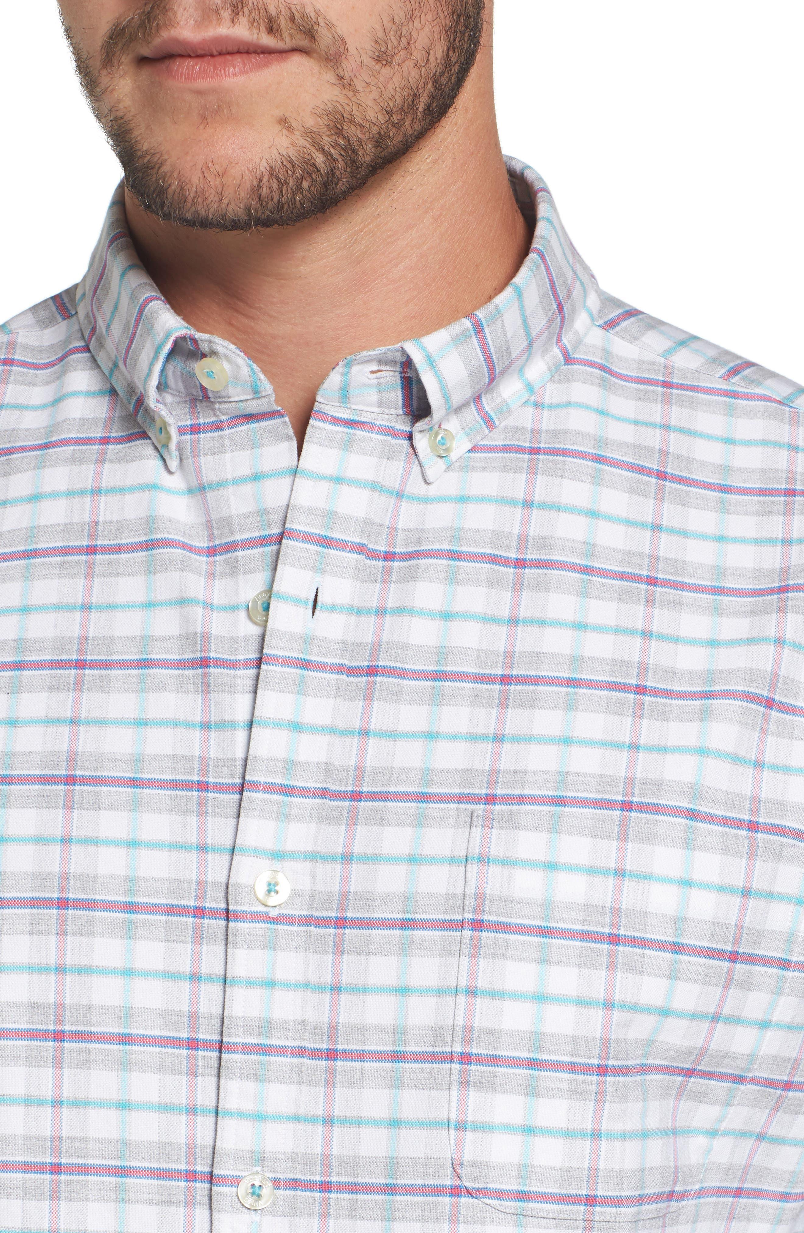 Alternate Image 4  - vineyard vines Lockwood Slim Fit Check Sport Shirt