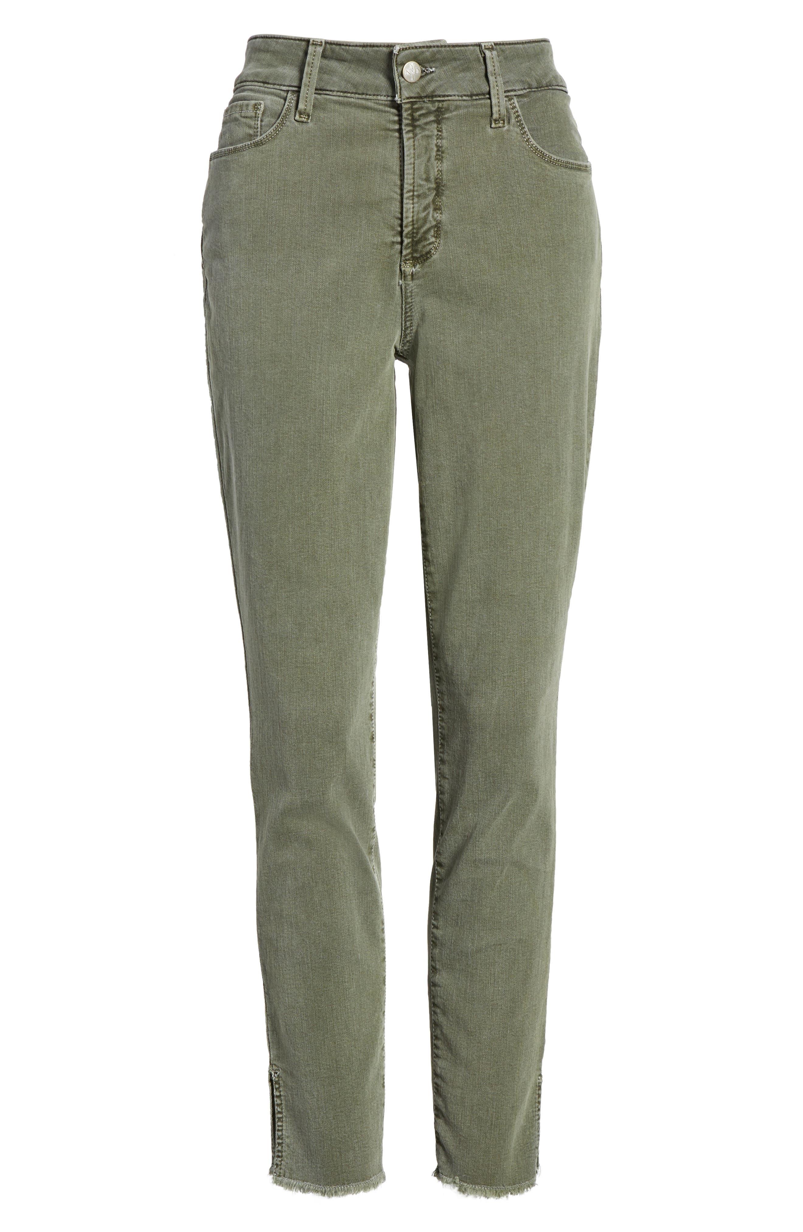 Alternate Image 4  - NYDJ Ami Frayed Hem Stretch Skinny Ankle Jeans (Regular & Petite)