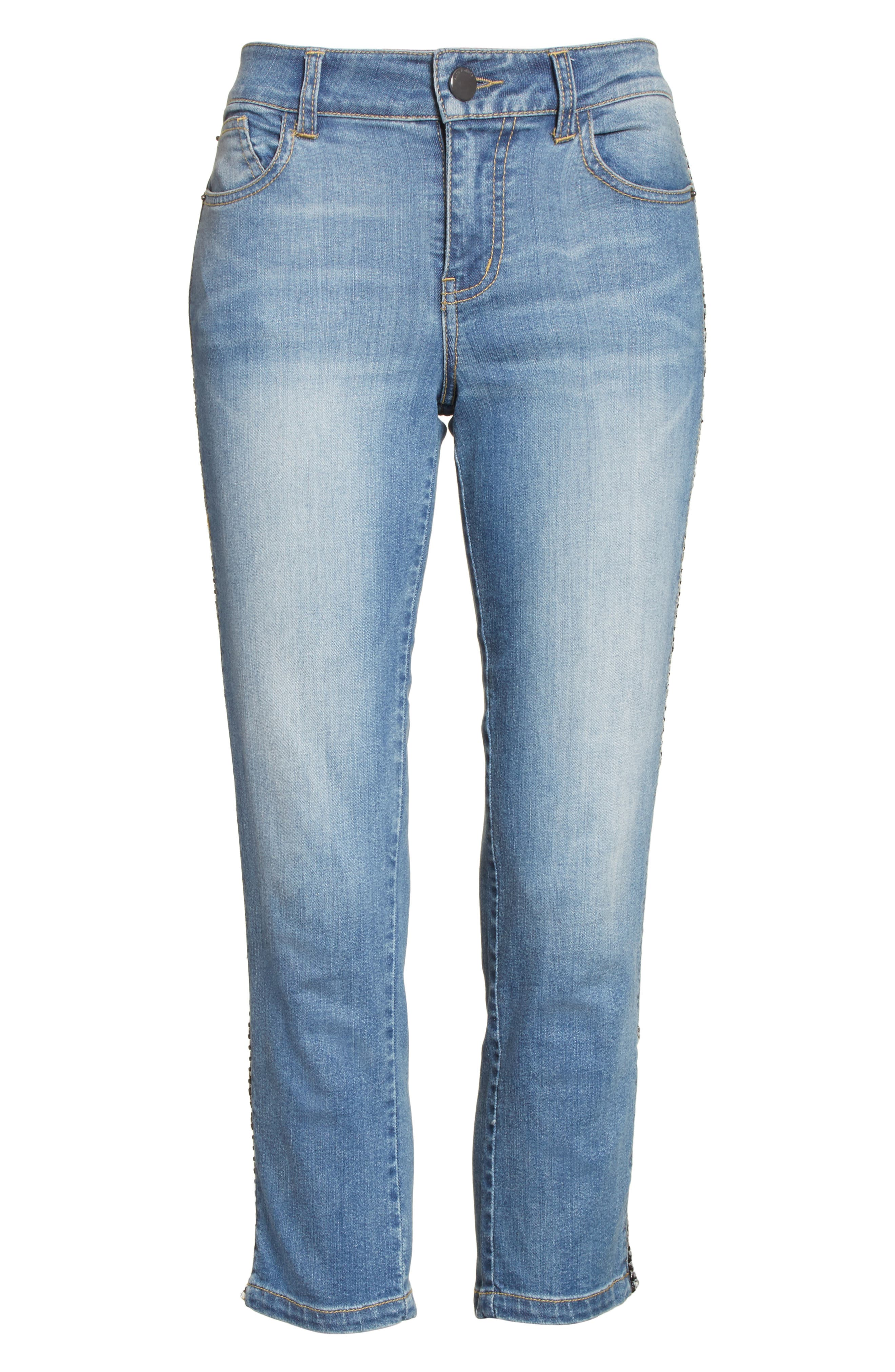 Alternate Image 7  - Alice + Olivia Jane Crop Skinny Jeans