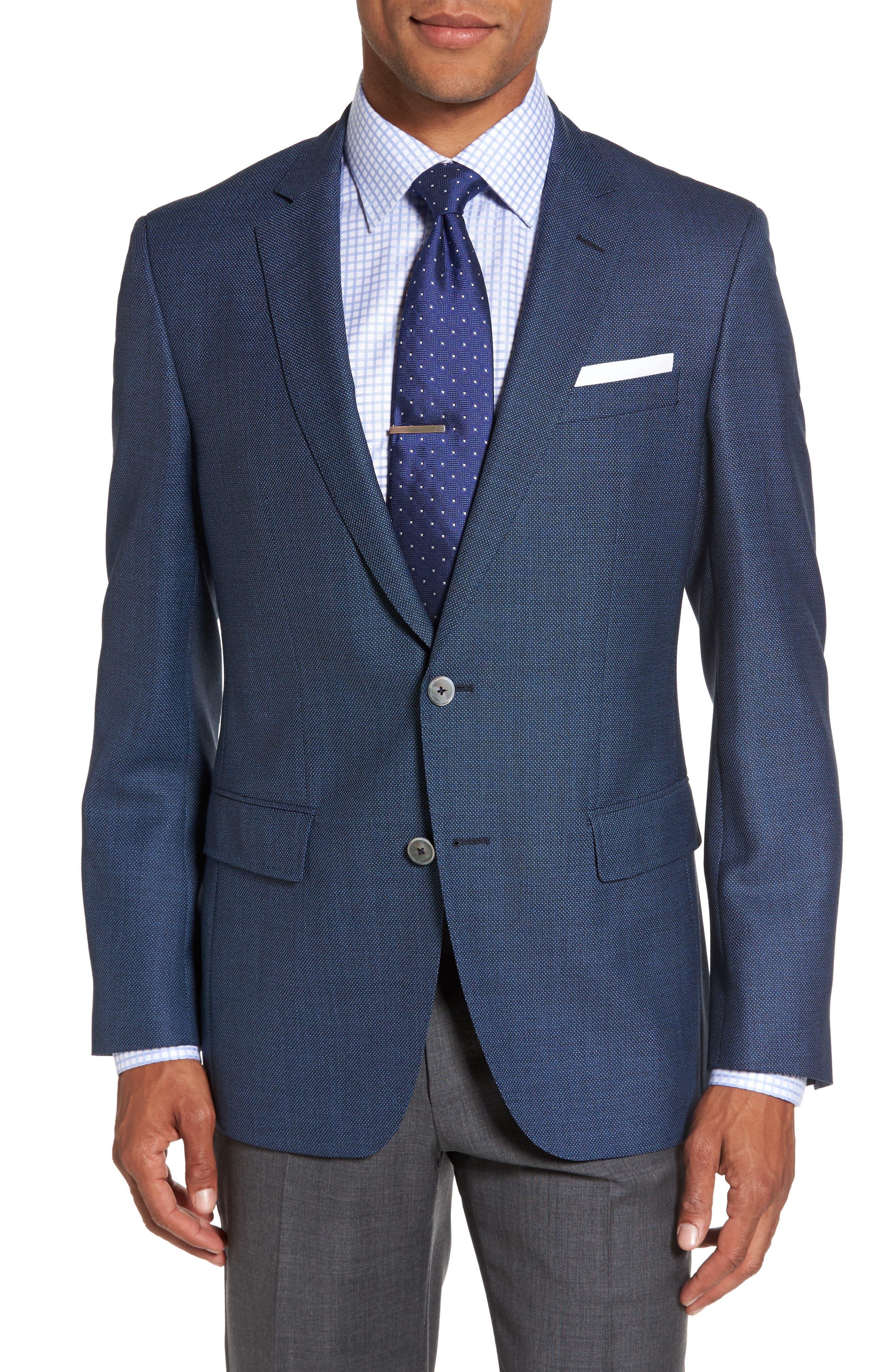 Main Image - BOSS Hutsons Trim Fit Wool Blazer
