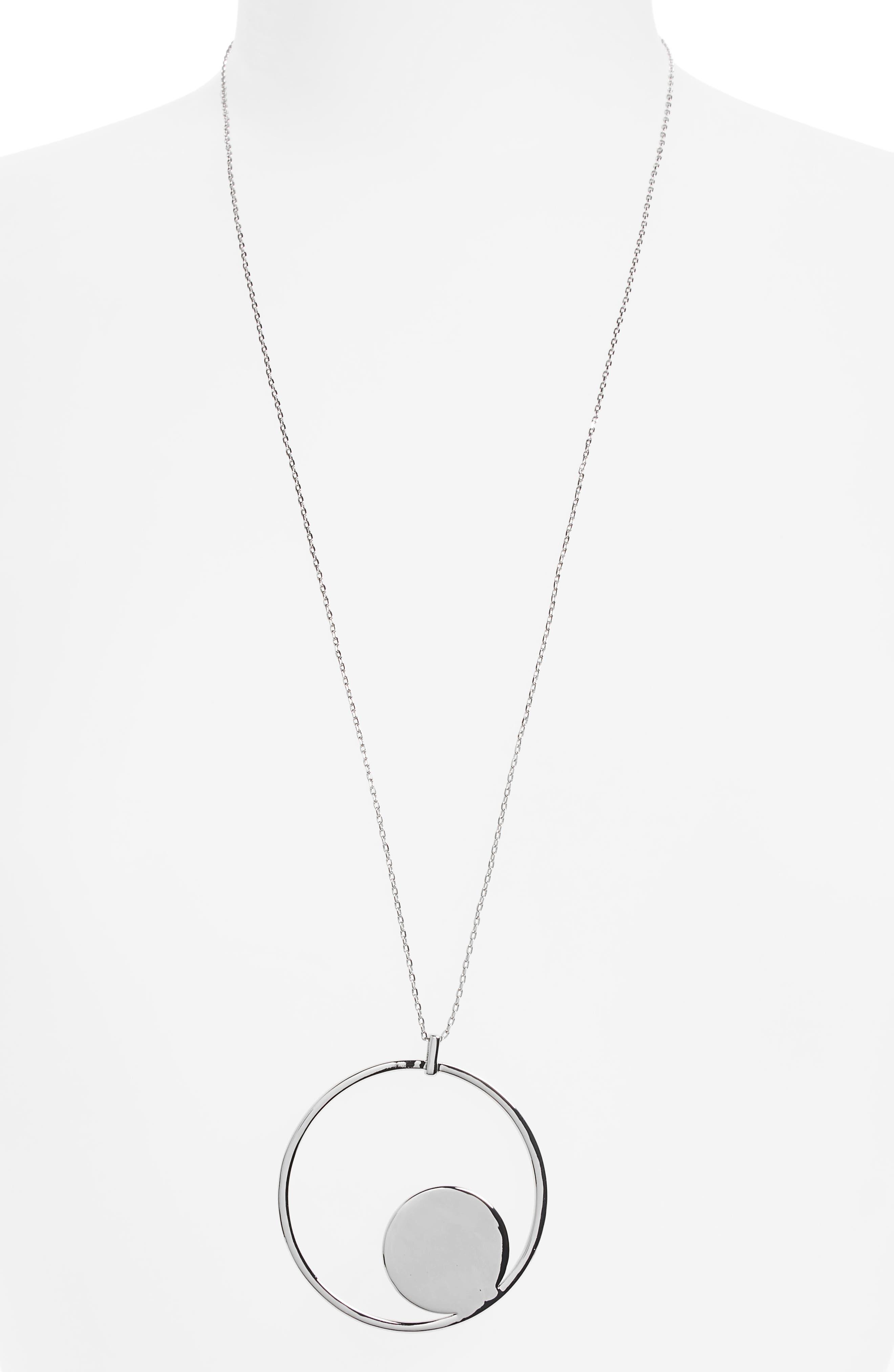 Halogen® Floating Disc Pendant Necklace