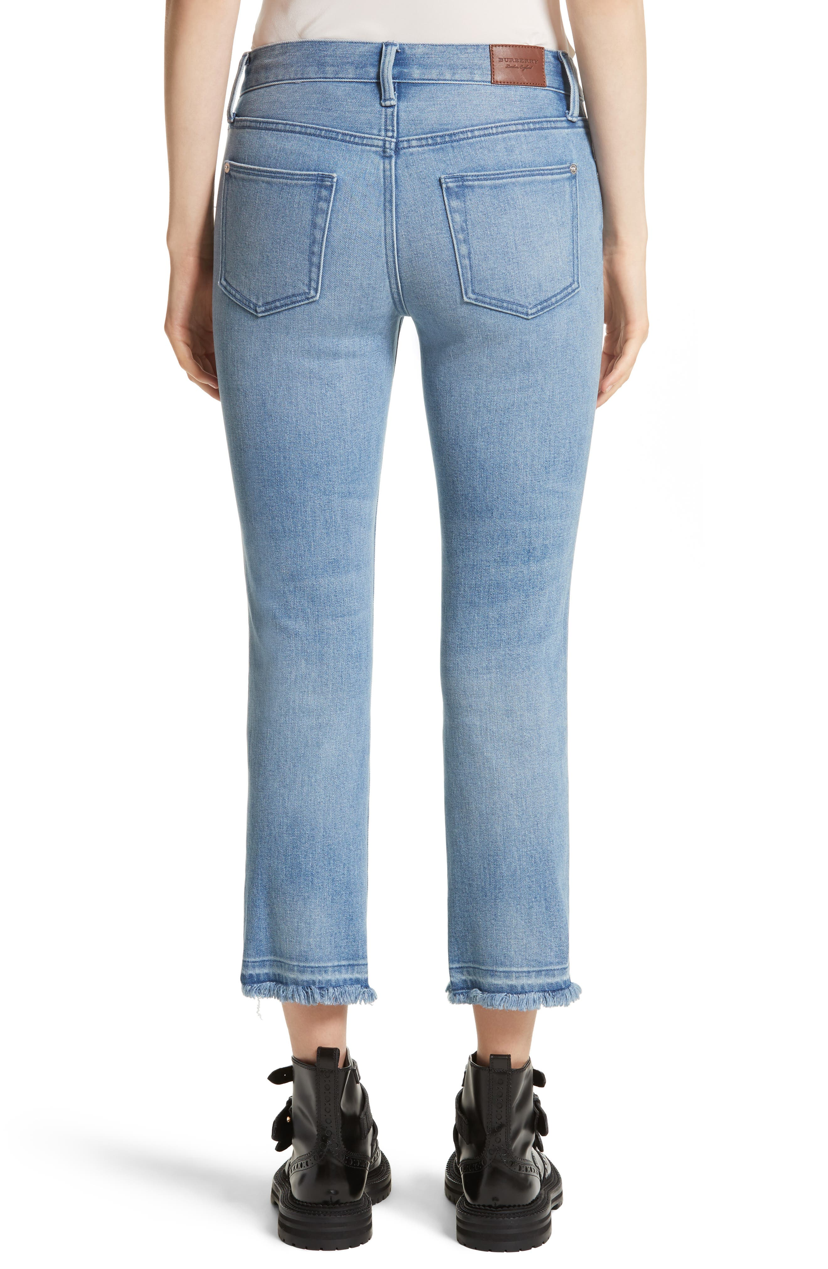 Relaxed Crop Jeans,                             Alternate thumbnail 2, color,                             Pale Blue
