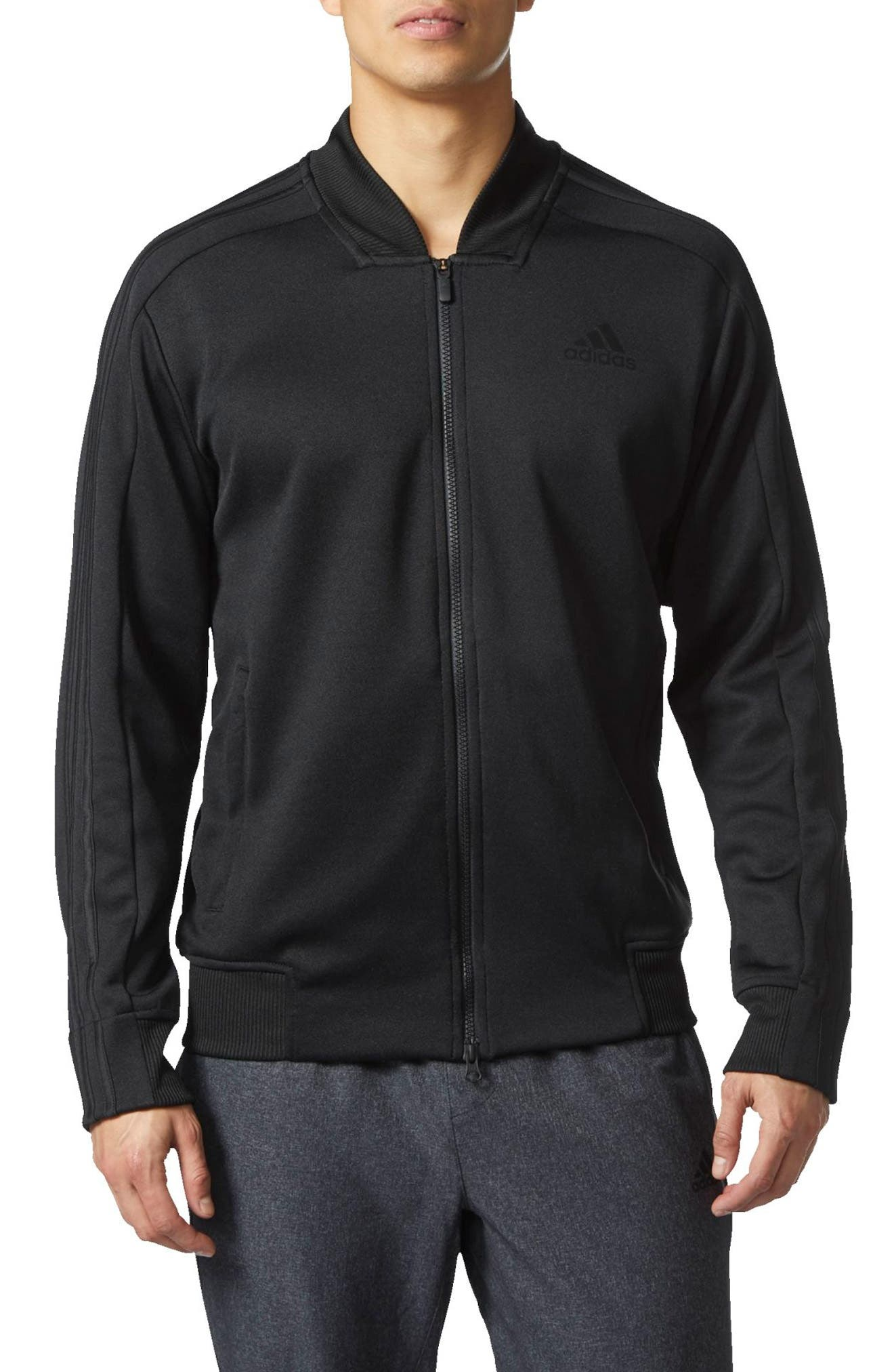 Sport ID Track Bomber Jacket,                         Main,                         color, Black