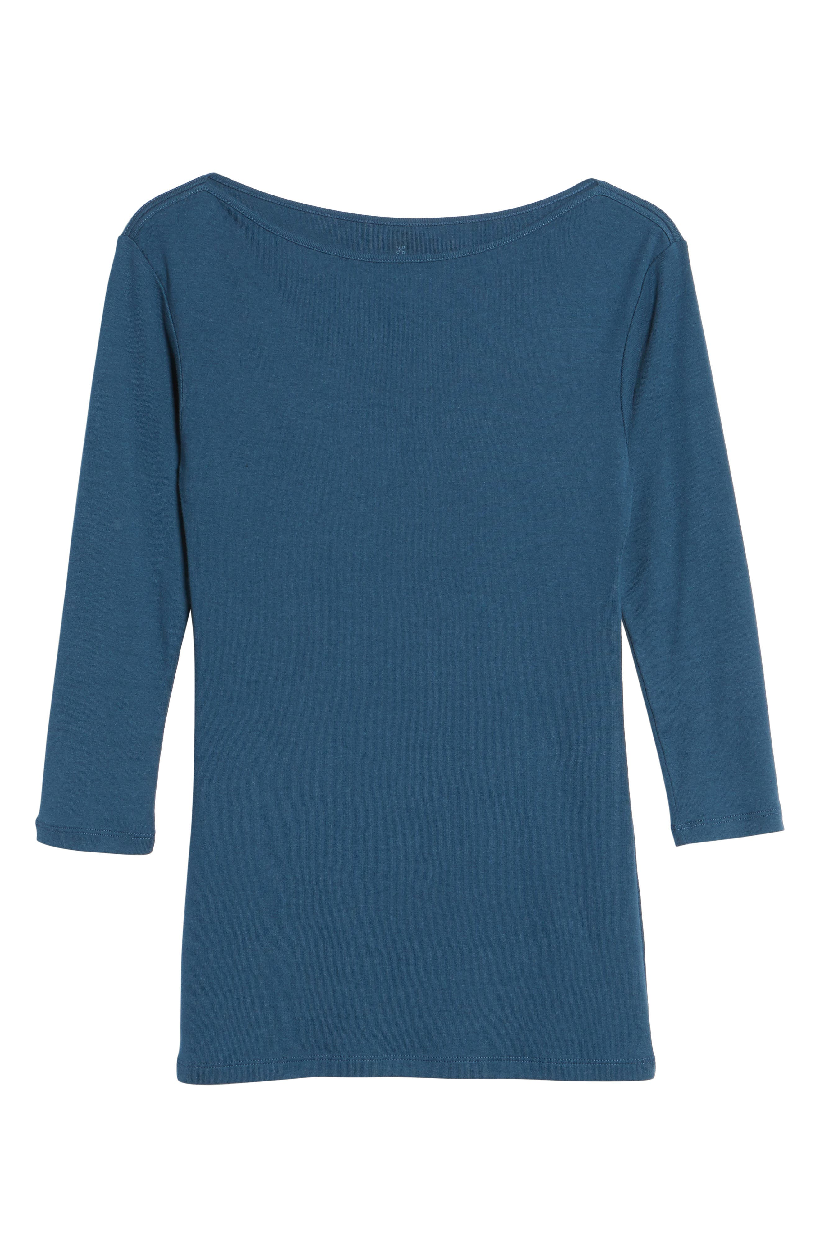 Alternate Image 6  - Caslon® Three Quarter Sleeve Tee (Regular & Petite)