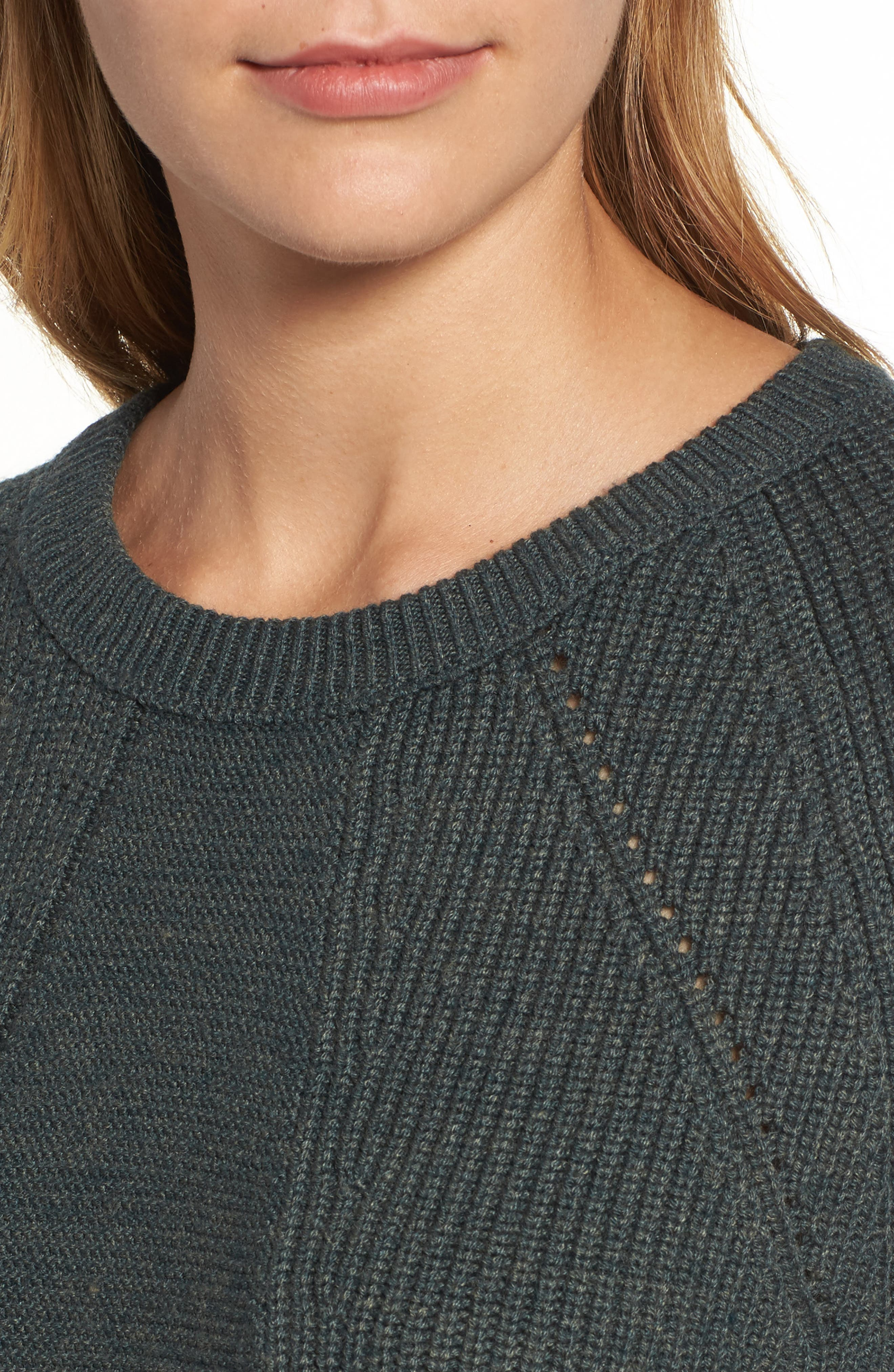 Engineered Stitch Sweater,                             Alternate thumbnail 5, color,                             Military