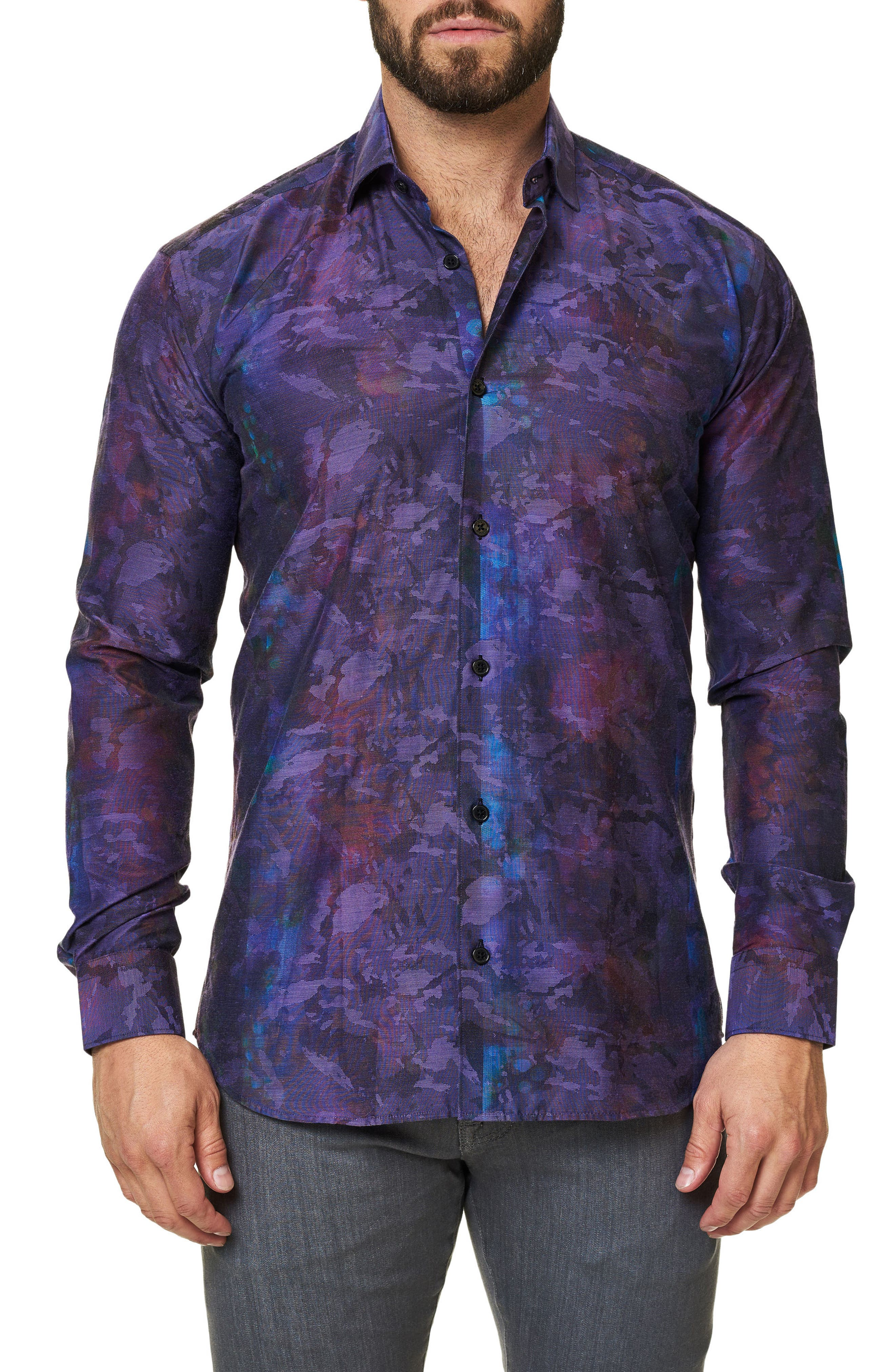 Alternate Image 3  - Maceoo Trim Fit Print Sport Shirt