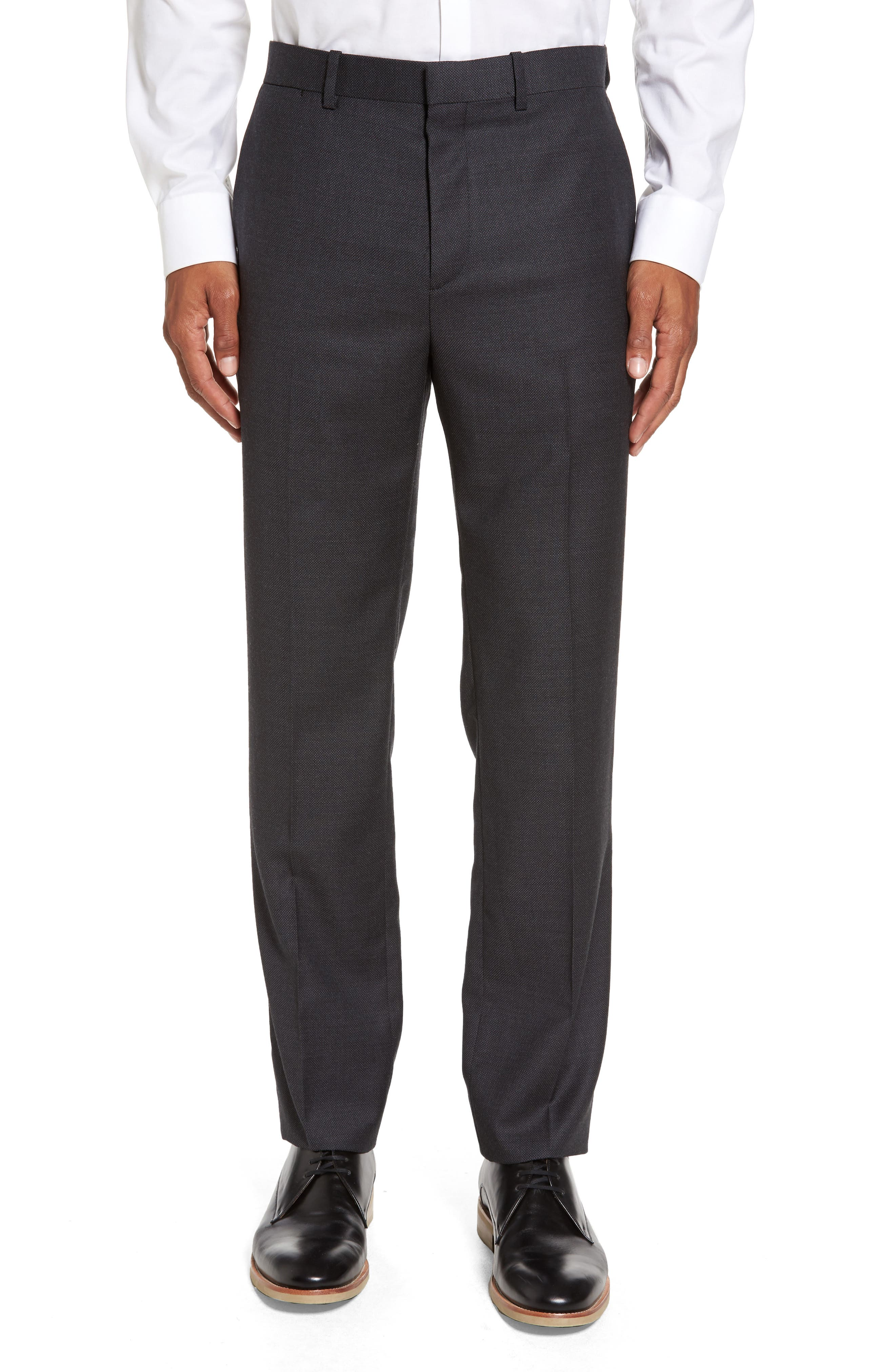 Theory Jake Nailhead Slim Wool Trousers