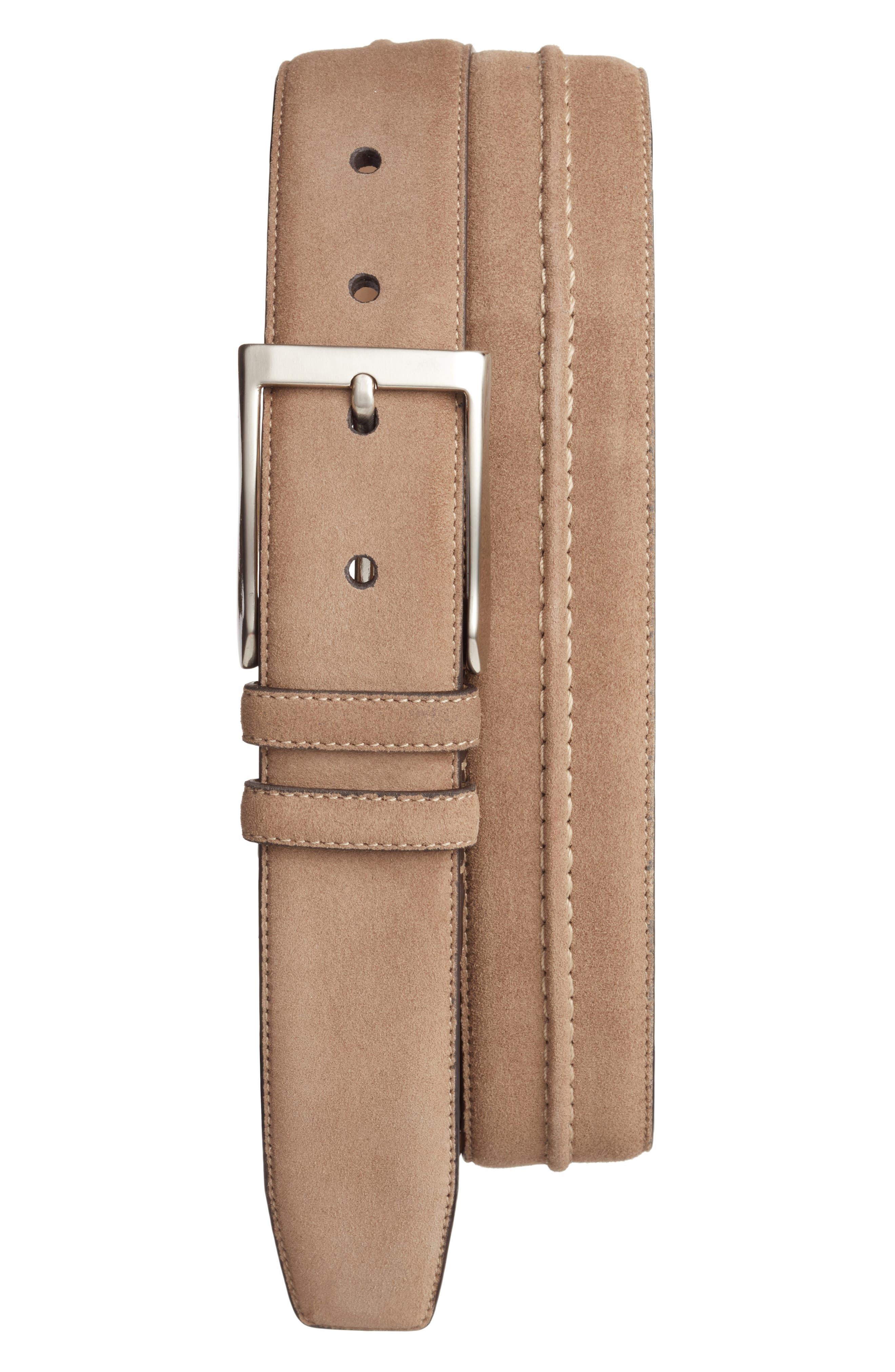 Suede Belt,                         Main,                         color, Khaki