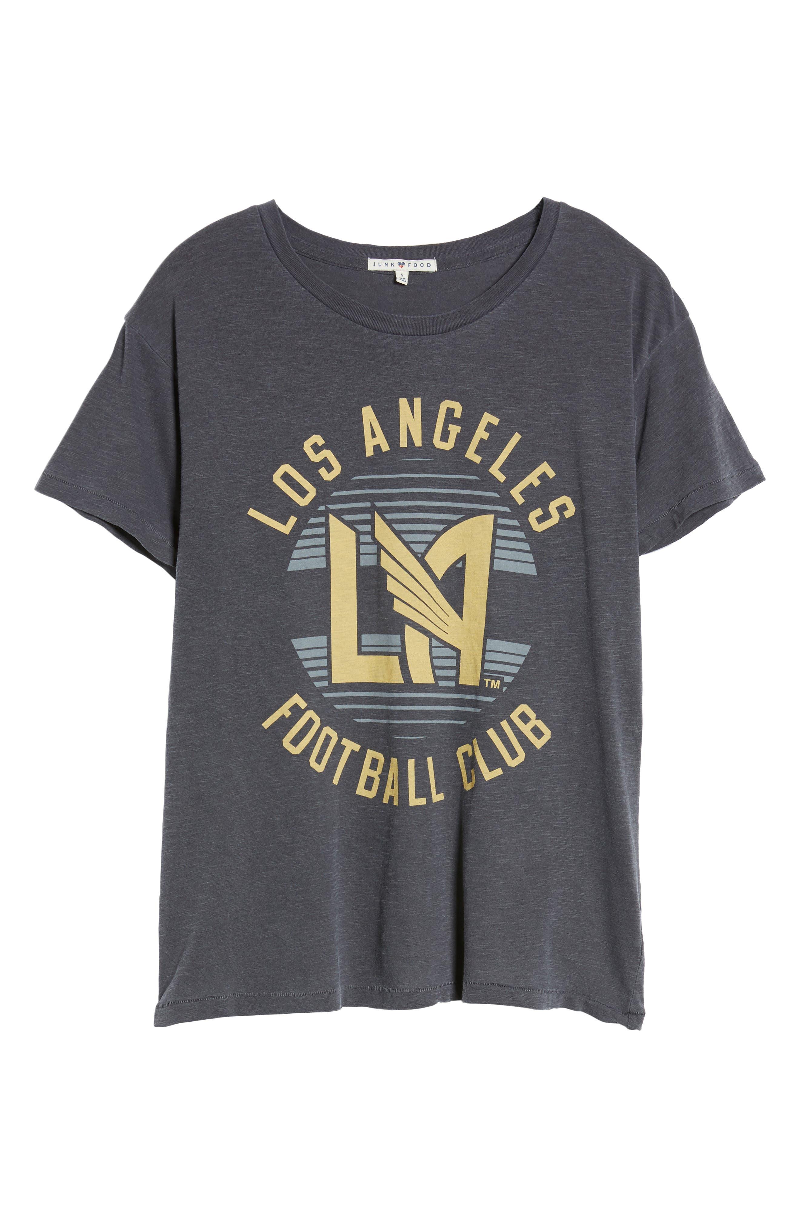 Los Angeles FC Boyfriend Tee,                             Alternate thumbnail 6, color,                             Jet Black