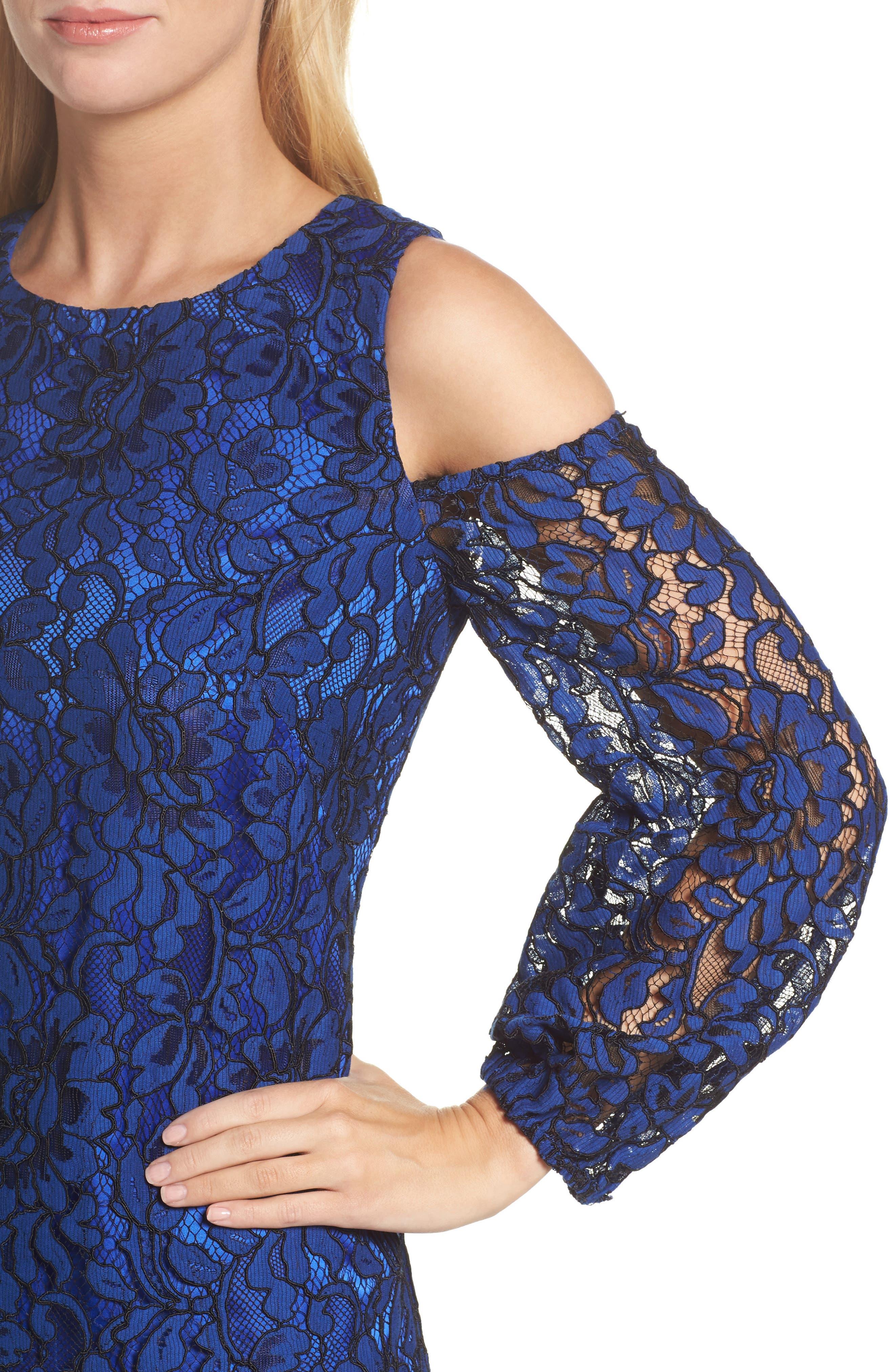 Alternate Image 4  - Eliza J Lace Cold Shoulder Dress