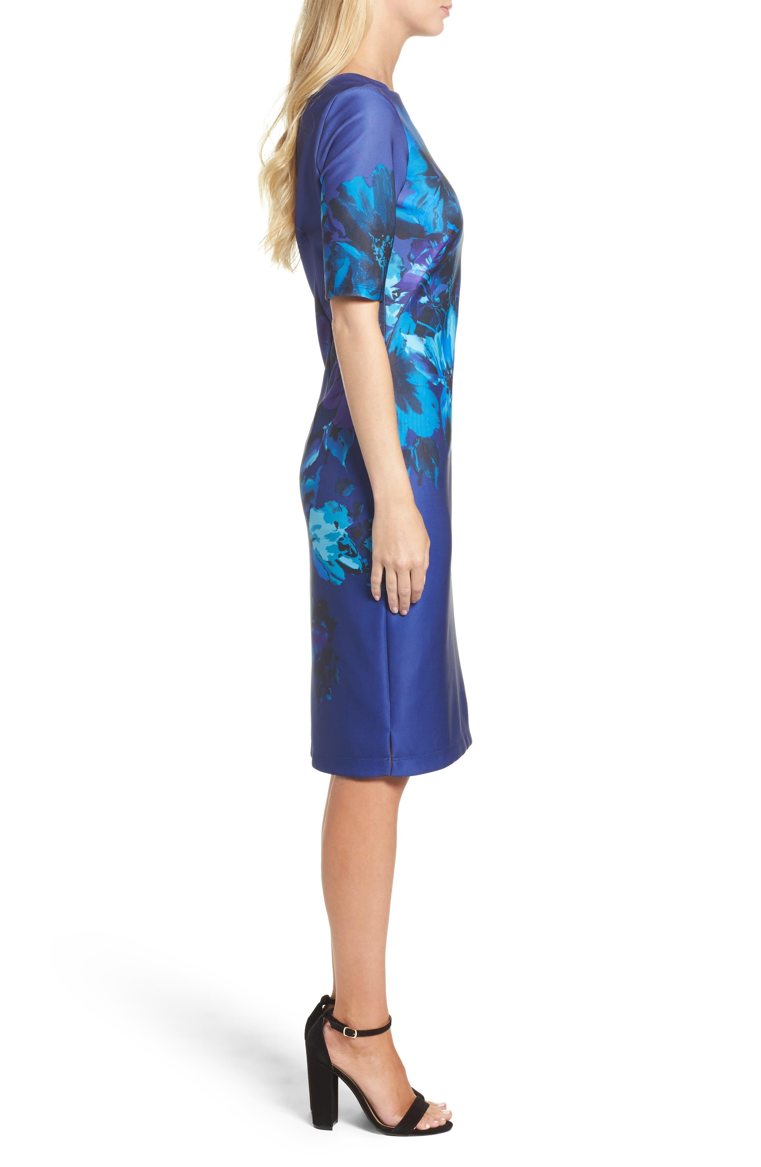 Alternate Image 3  - Gabby Skye Floral Print Scuba Sheath Dress