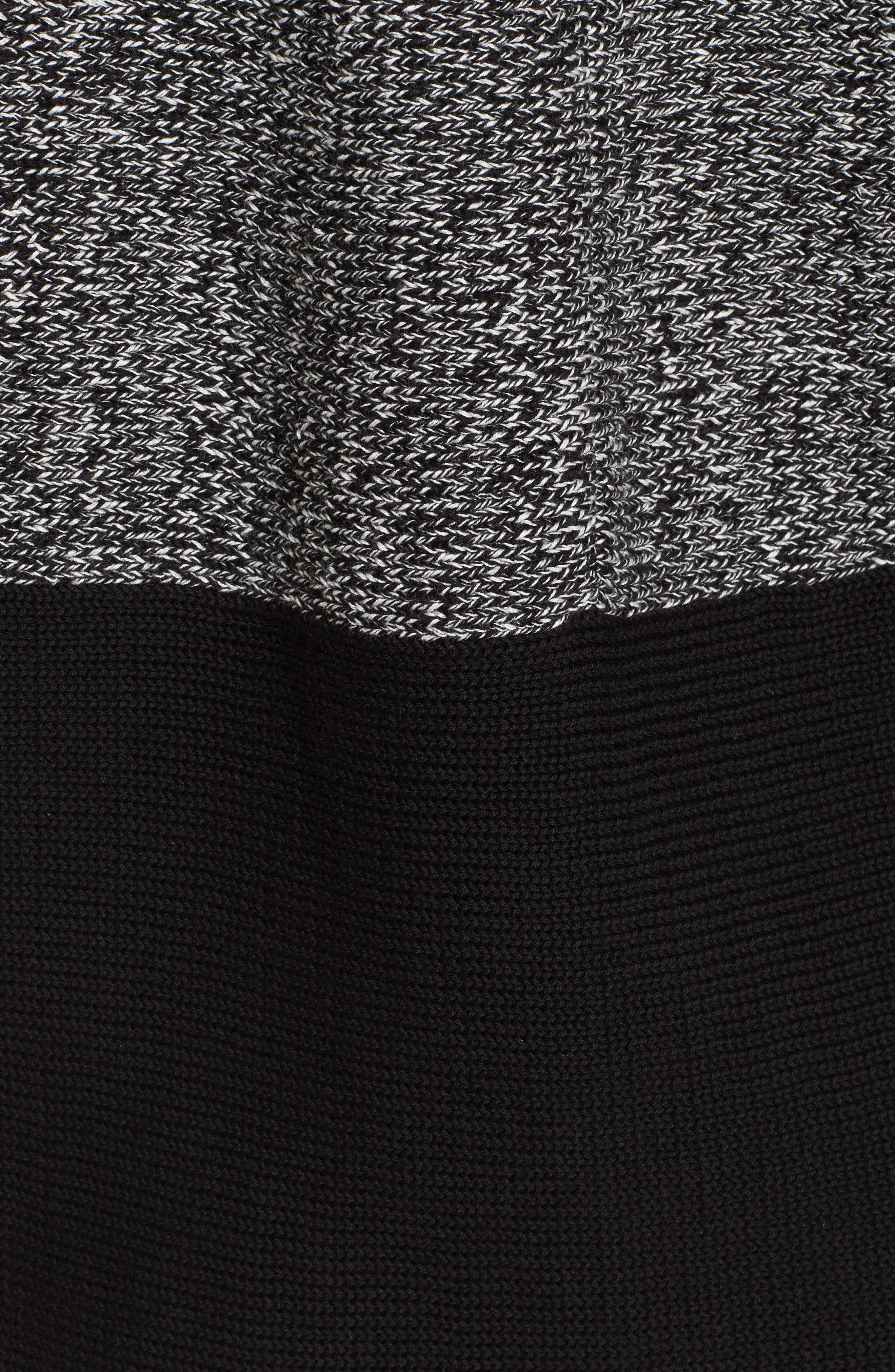 Colorblock Kimono Sleeve Sweater,                             Alternate thumbnail 5, color,                             Rich Black
