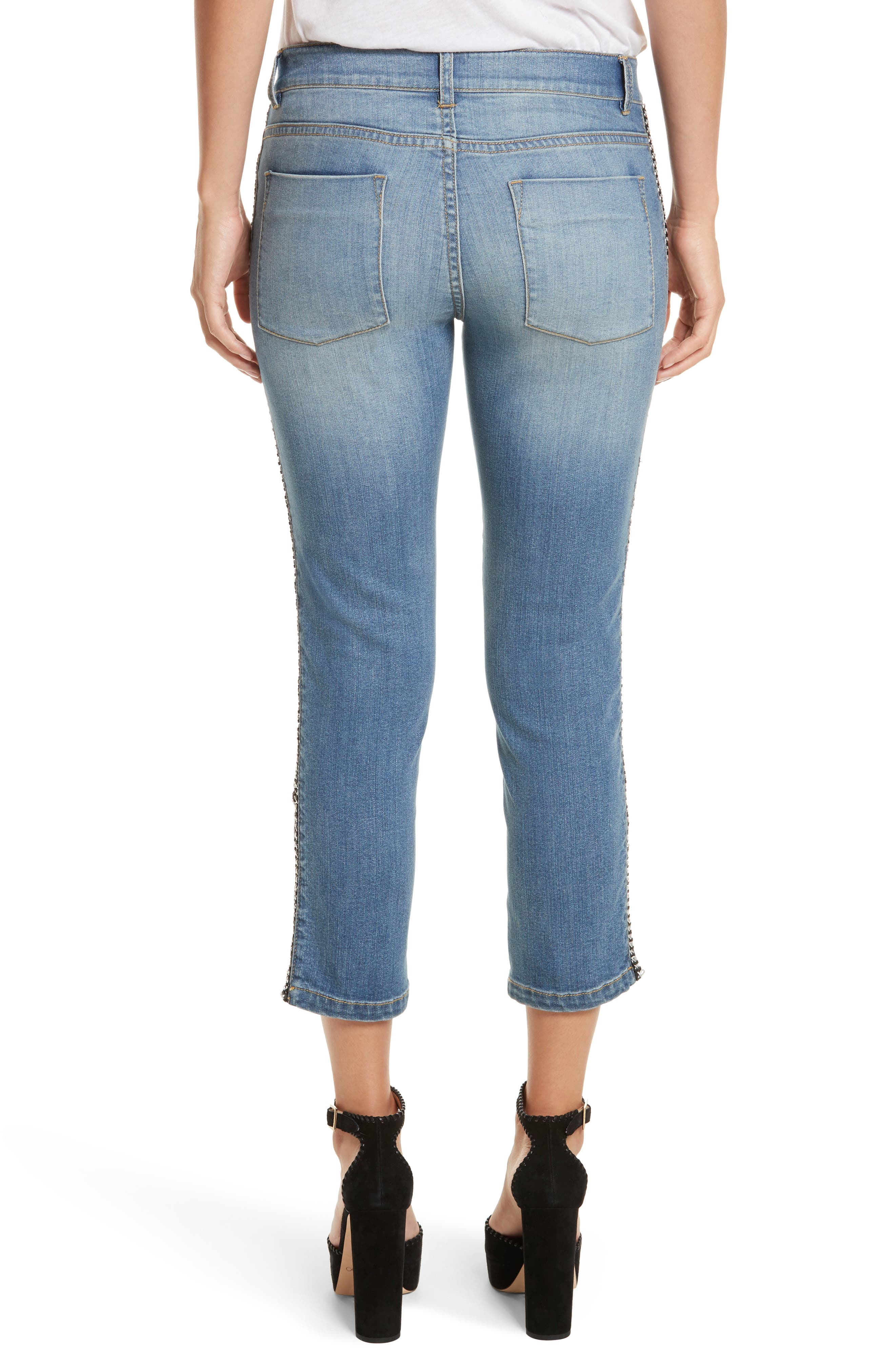 Alternate Image 3  - Alice + Olivia Jane Crop Skinny Jeans