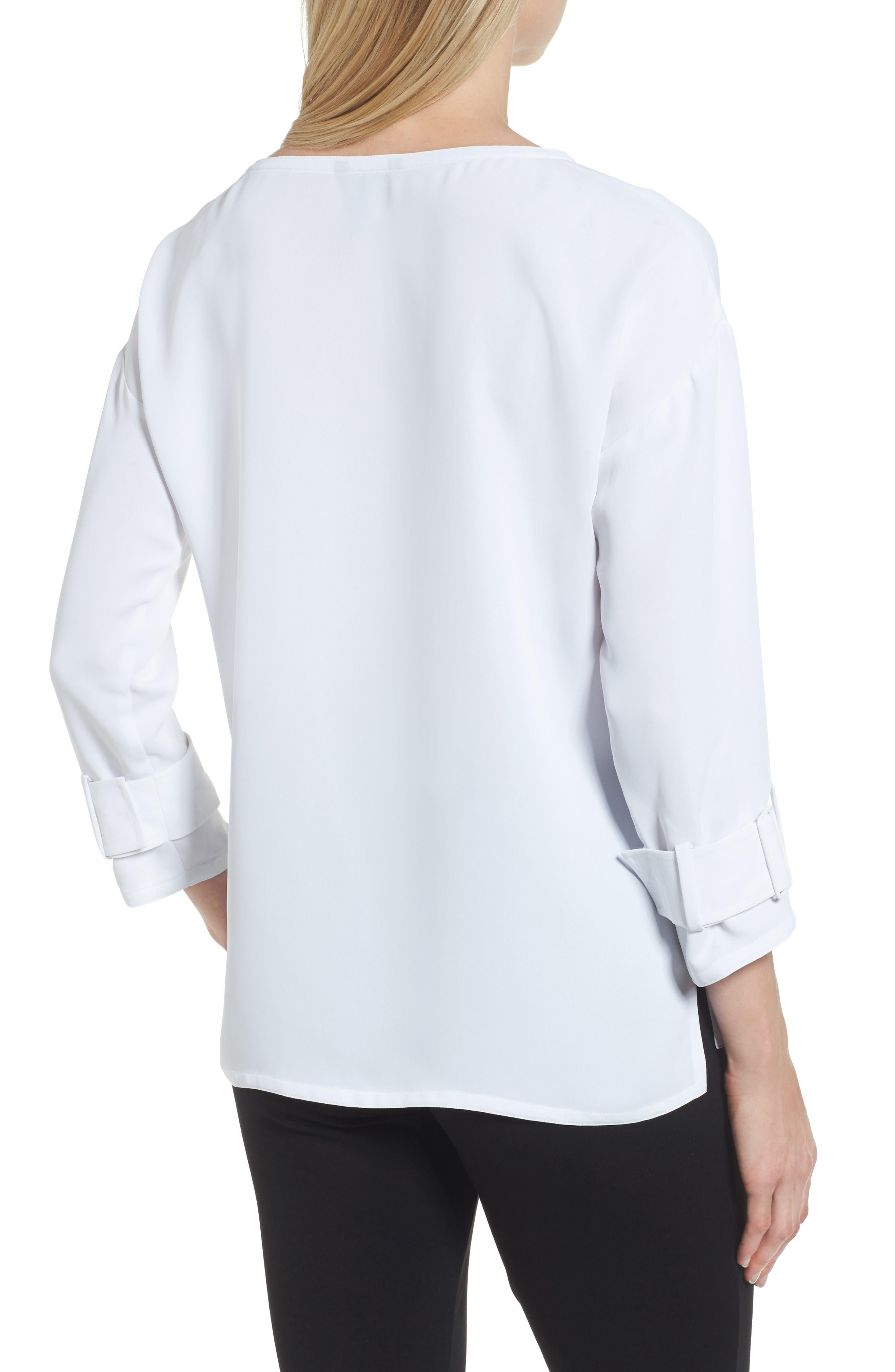 Alternate Image 2  - NIC+ZOE Buckle Sleeve Top (Regular & Petite)