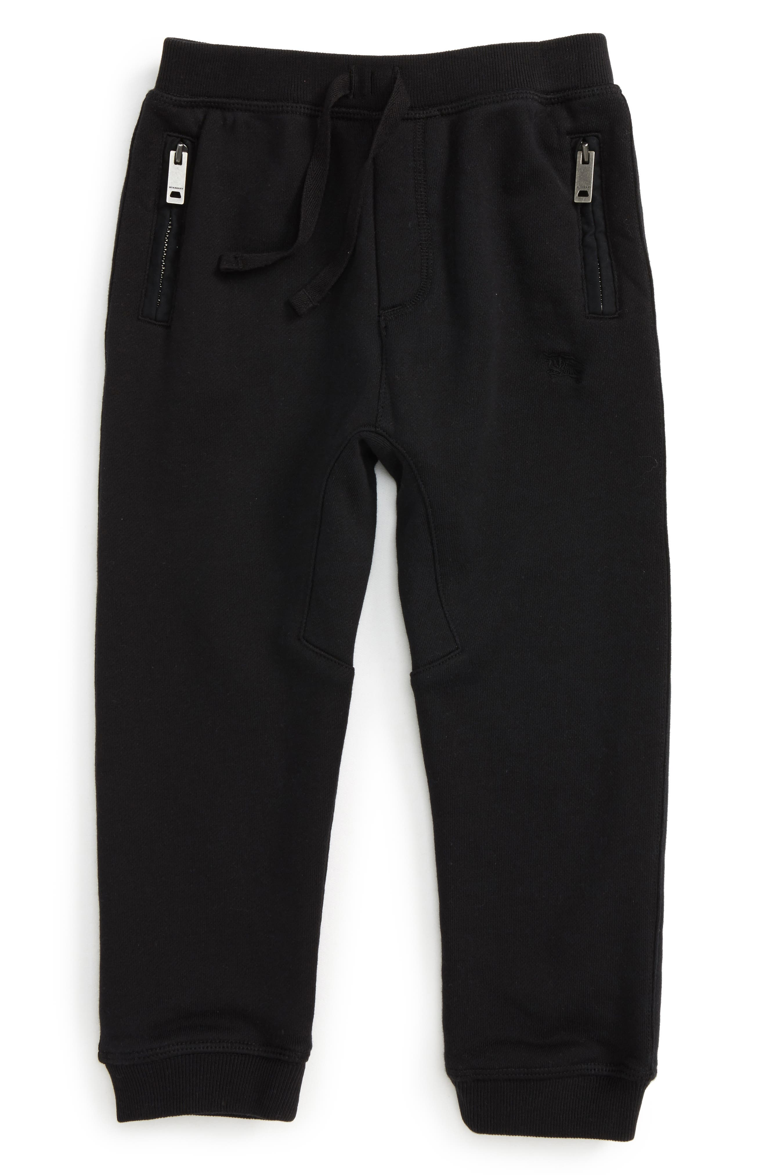 'Mini Phill' Sweatpants,                             Main thumbnail 1, color,                             Black