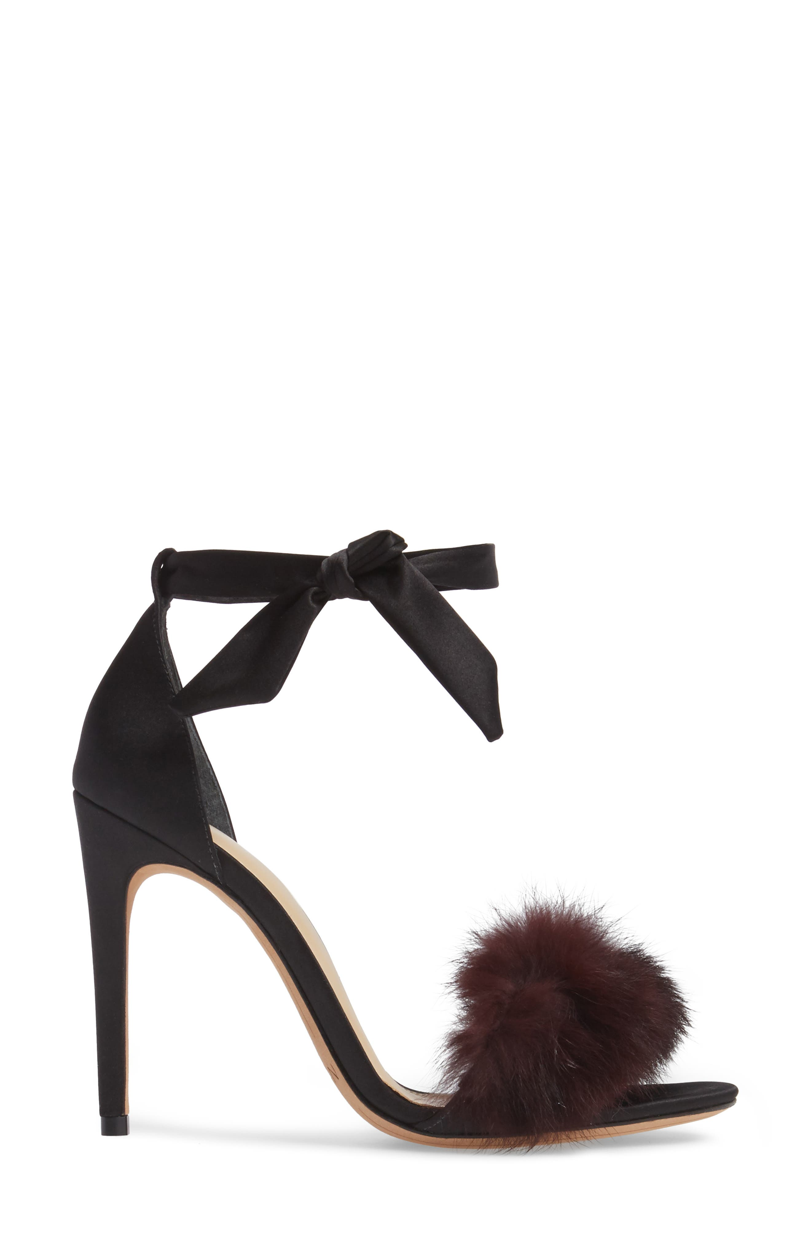 Alternate Image 3  - Alexandre Birman Clarita Genuine Rabbit Fur Sandal (Women)