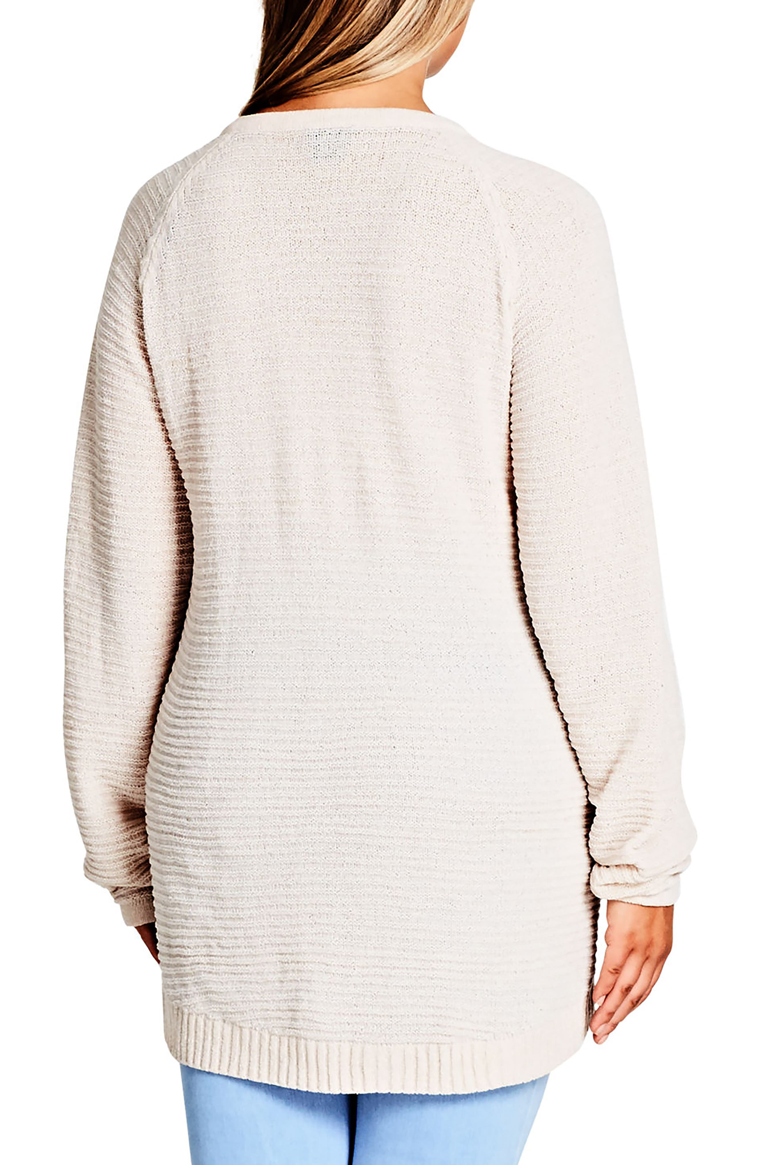 Alternate Image 2  - City Chic Zip Detail Sweater (Plus Size)