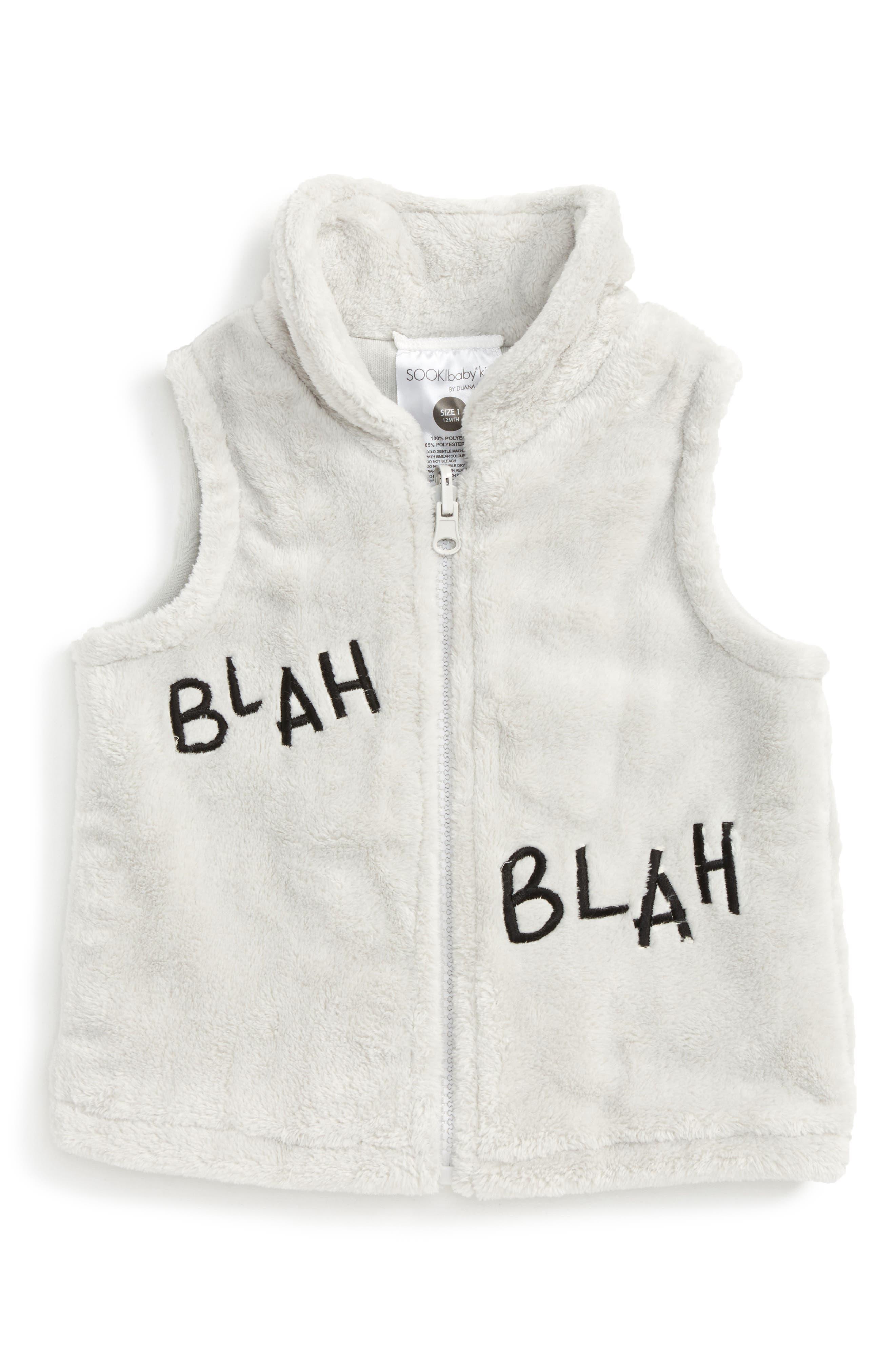 SOOKIbaby Blah Blah Blah Fleece Vest (Baby)