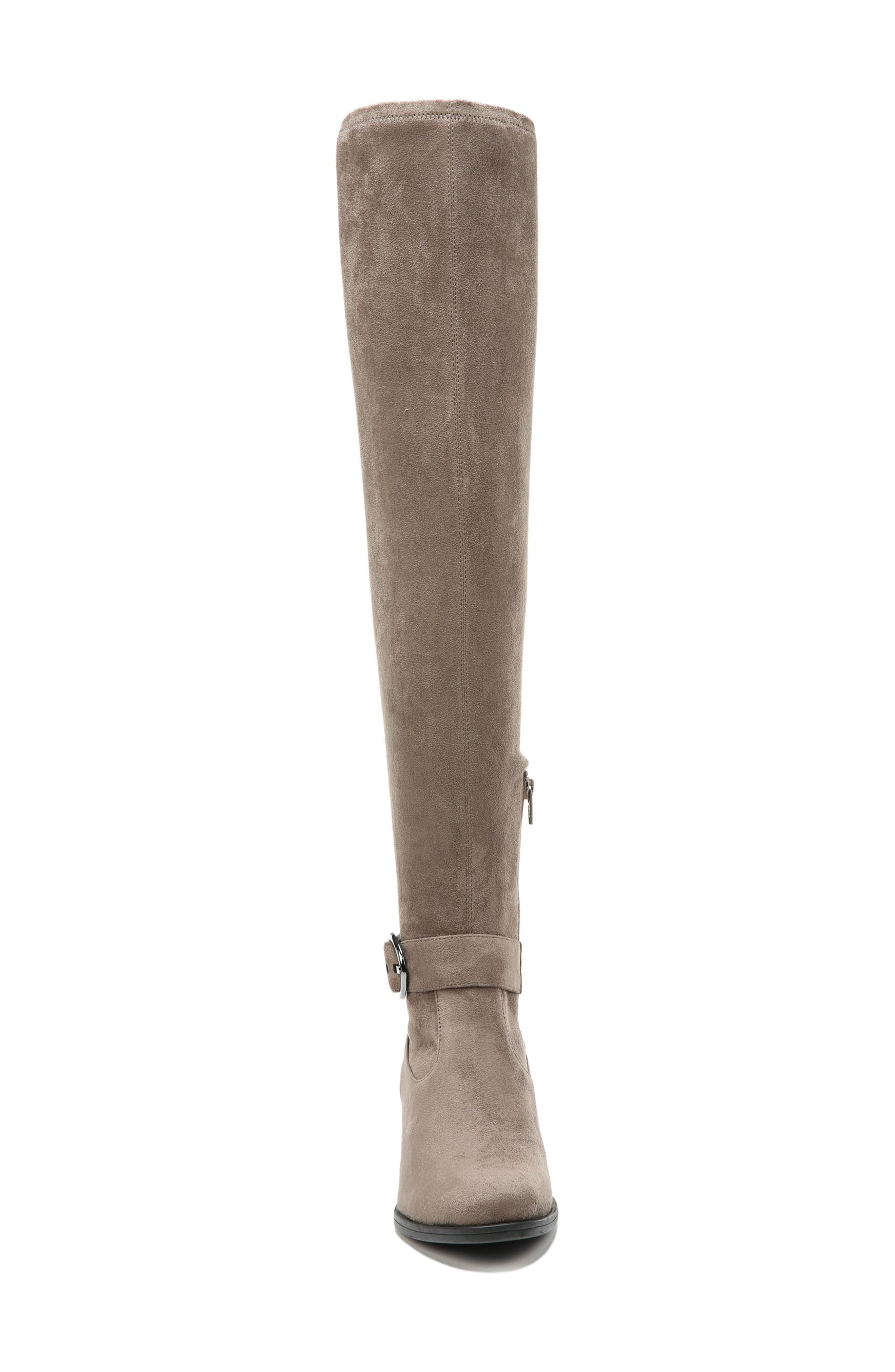Dalyn Over the Knee Boot,                             Alternate thumbnail 4, color,                             Modern Grey Stretch Microfiber