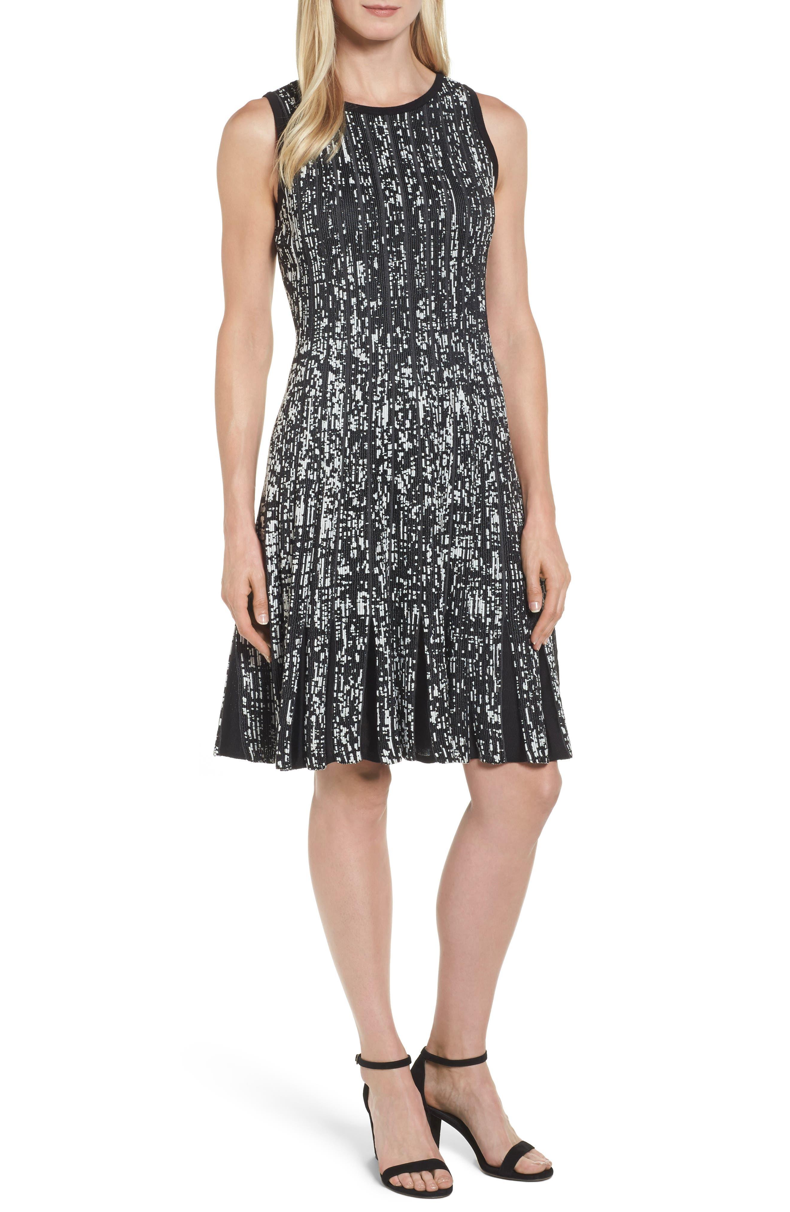 Boulevard Twirl Dress,                             Main thumbnail 1, color,                             Multi