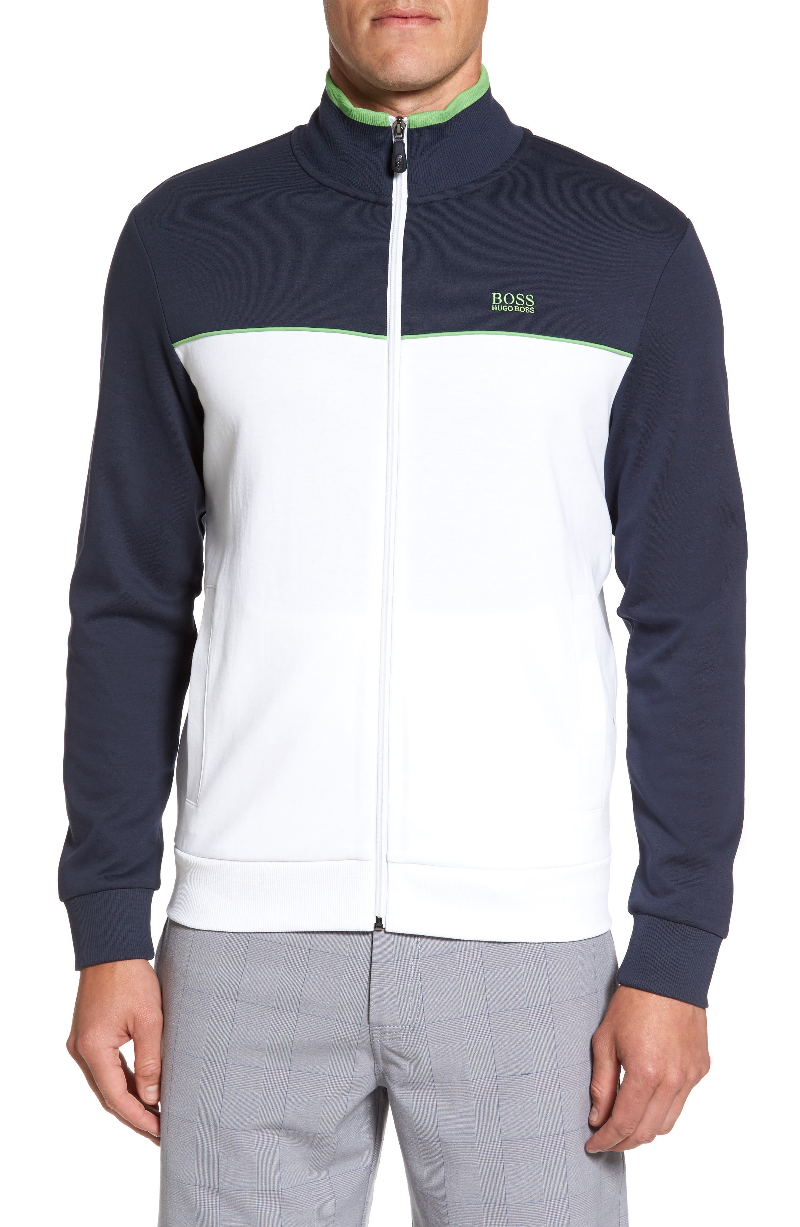 Alternate Image 1 Selected - BOSS Green Skaz Full Zip Fleece Jacket
