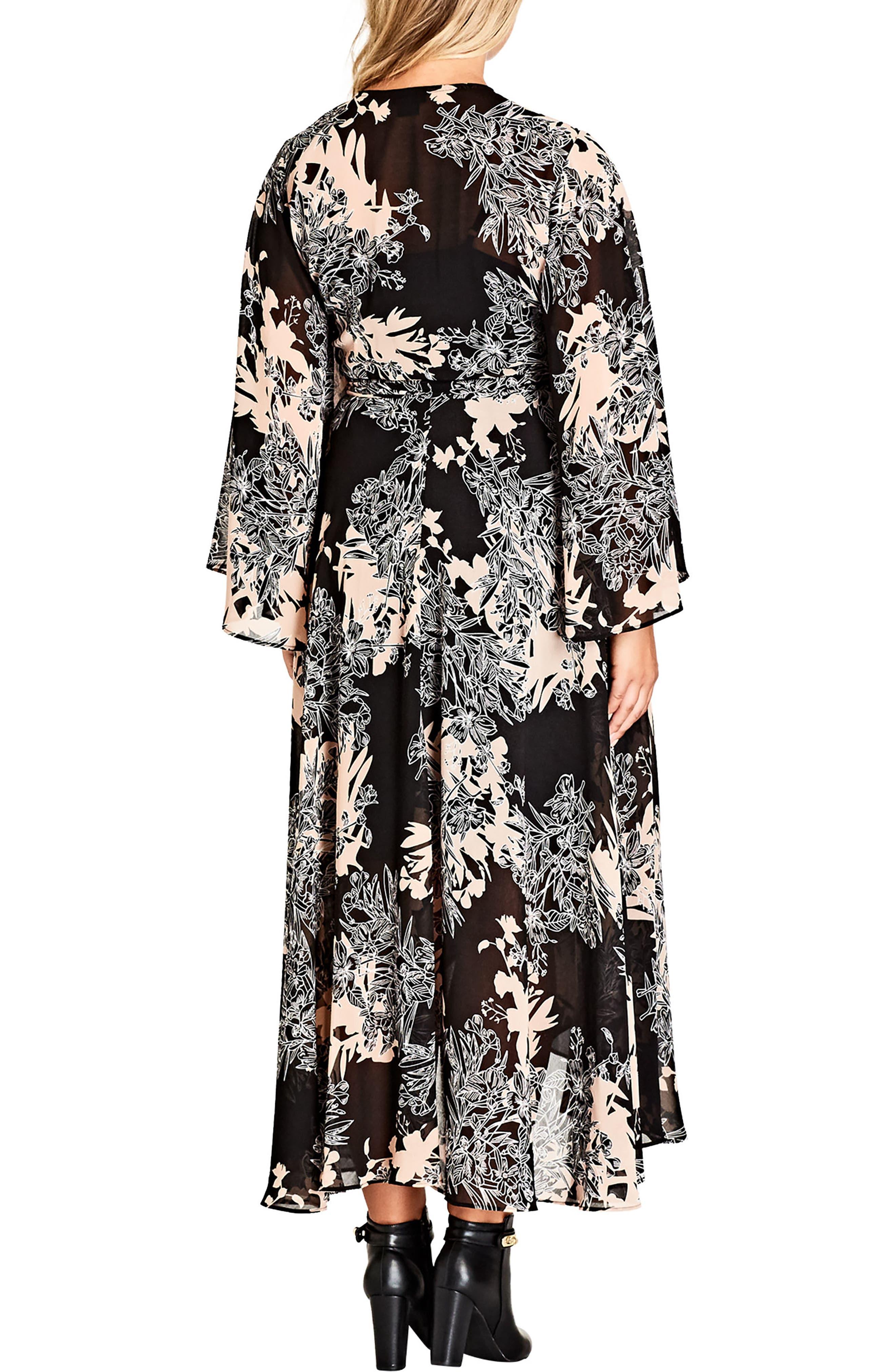 Alternate Image 2  - City Chic Shadow Floral Maxi Dress (Plus Size)