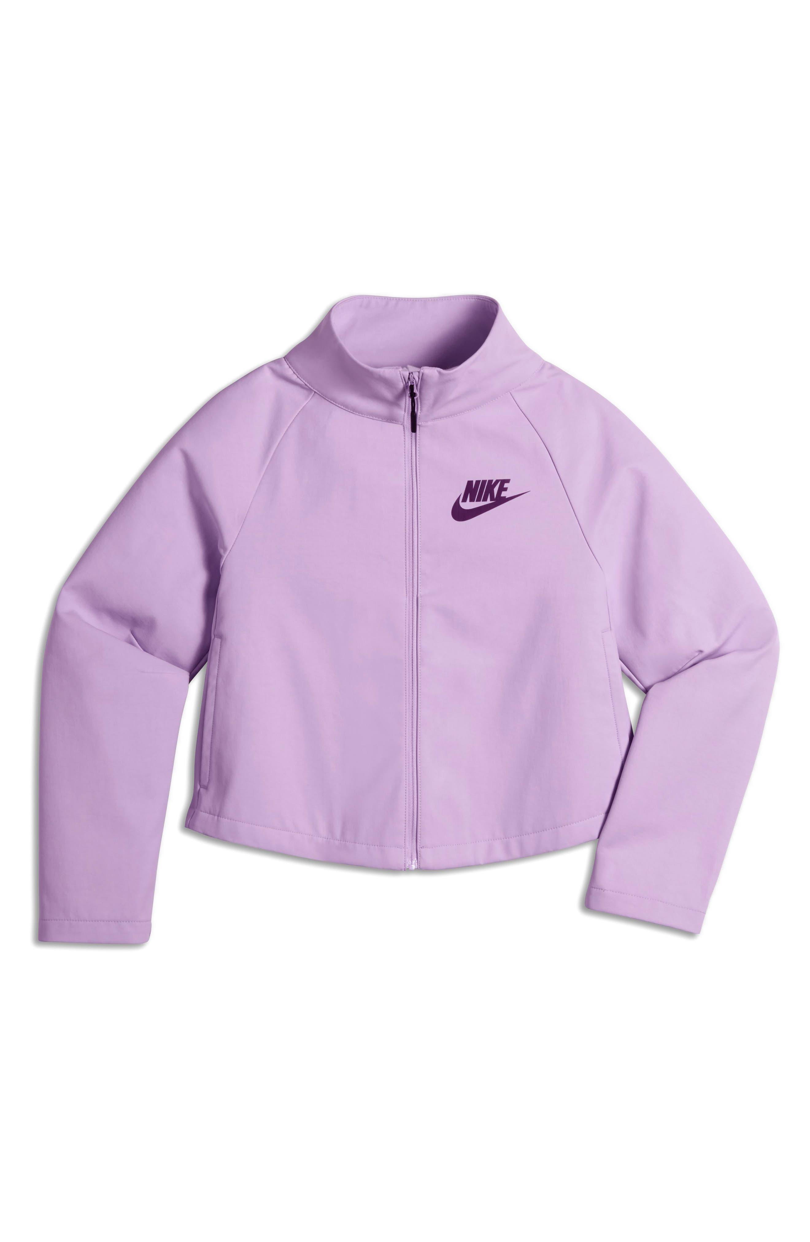 Alternate Image 1 Selected - Nike Tech Water Repellent Jacket (Big Girls)