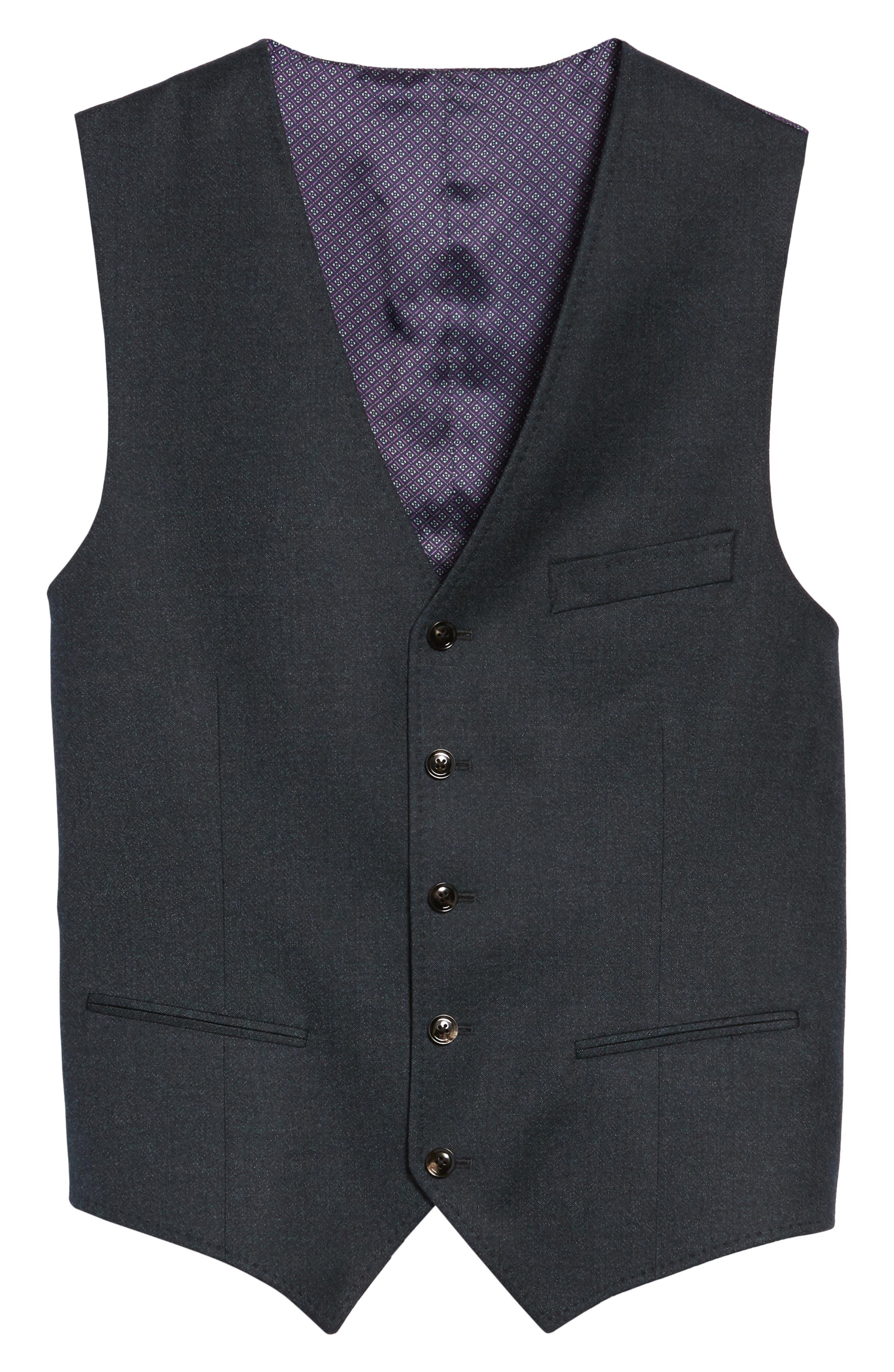 Alternate Image 6  - Ted Baker London Troy Trim Fit Solid Wool Vest