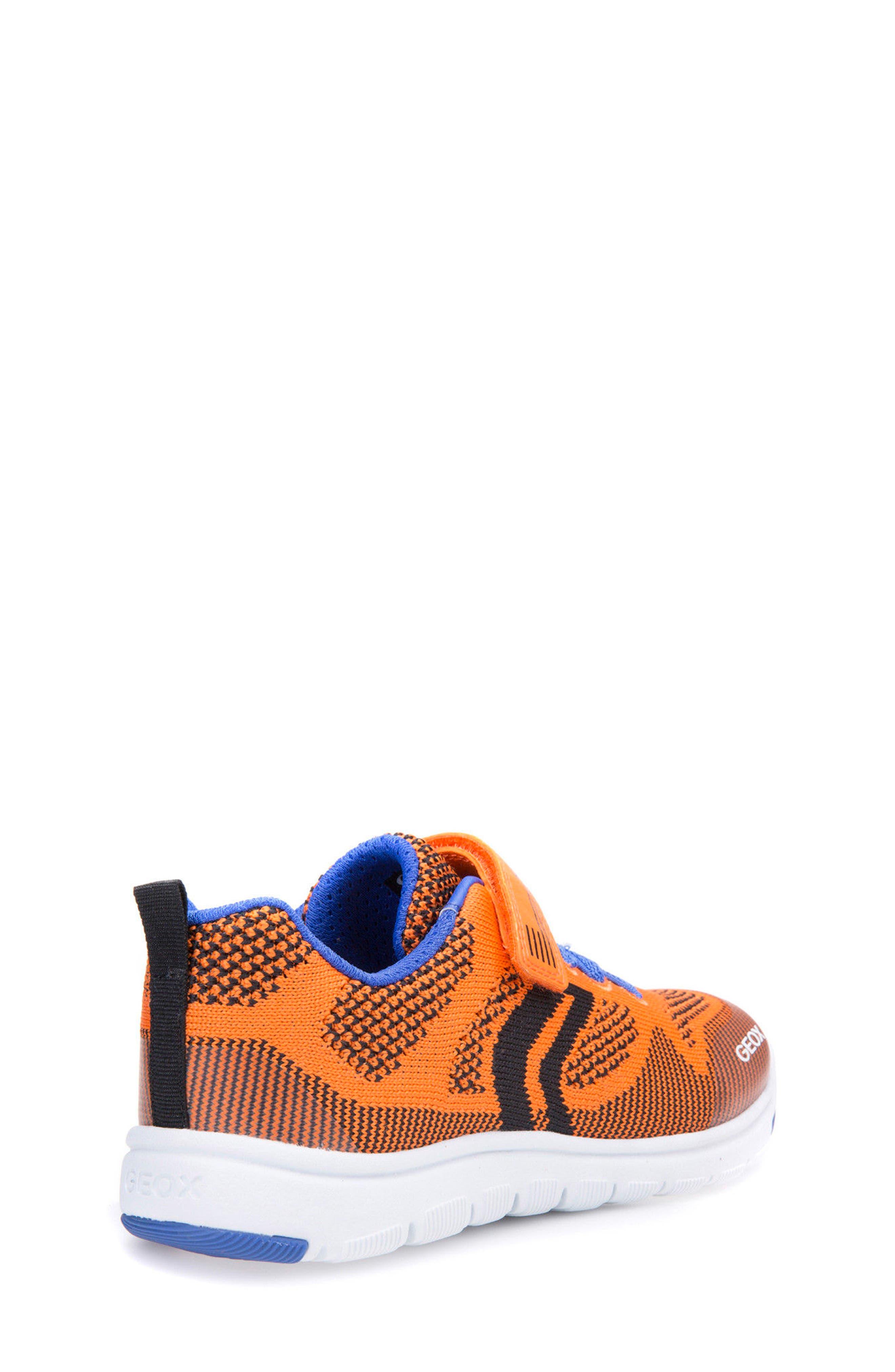 Xunday Low Top Woven Sneaker,                             Alternate thumbnail 3, color,                             Orange/ Royal