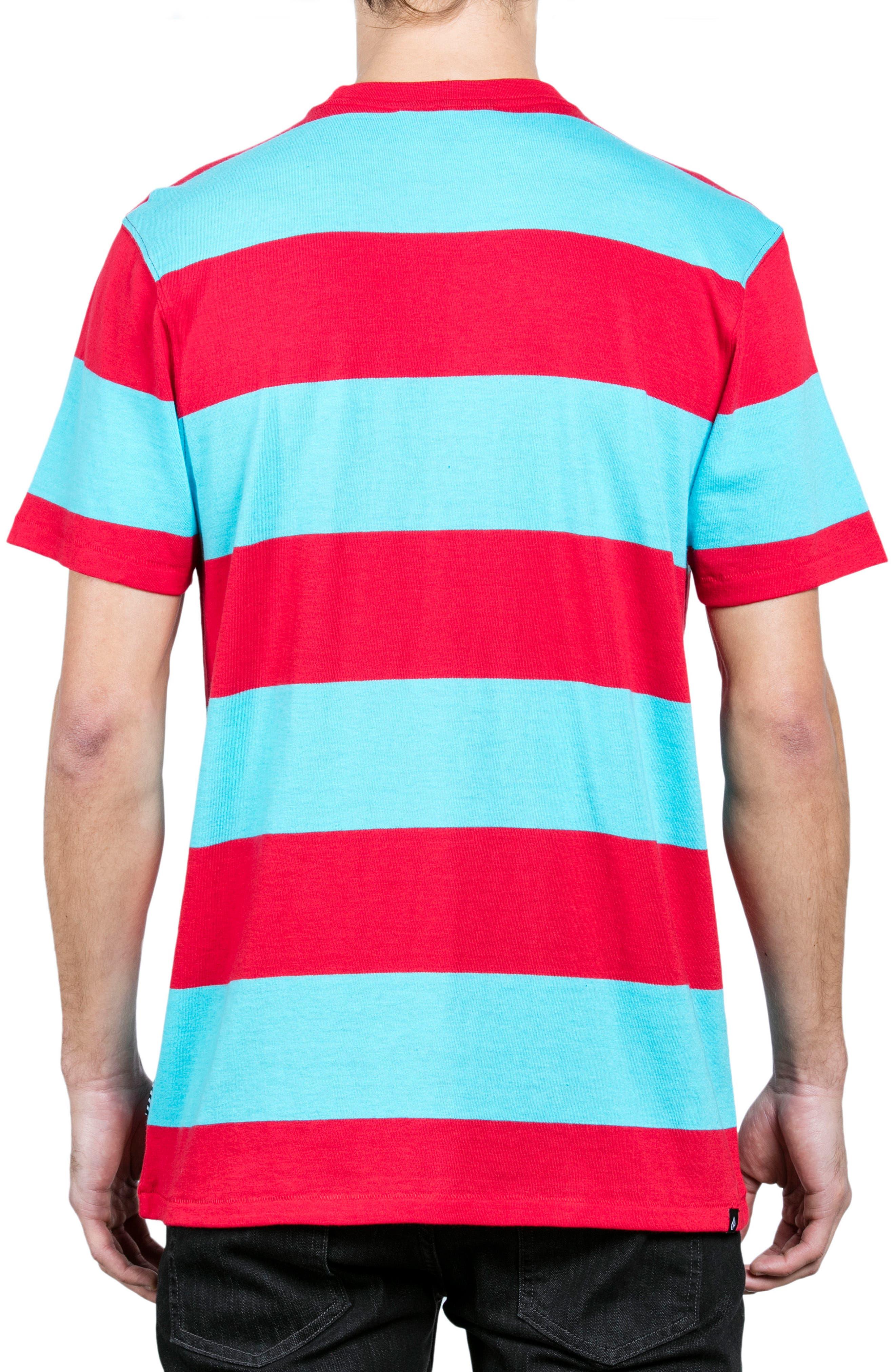 x Burger Records Stripe T-Shirt,                             Alternate thumbnail 2, color,                             Blue