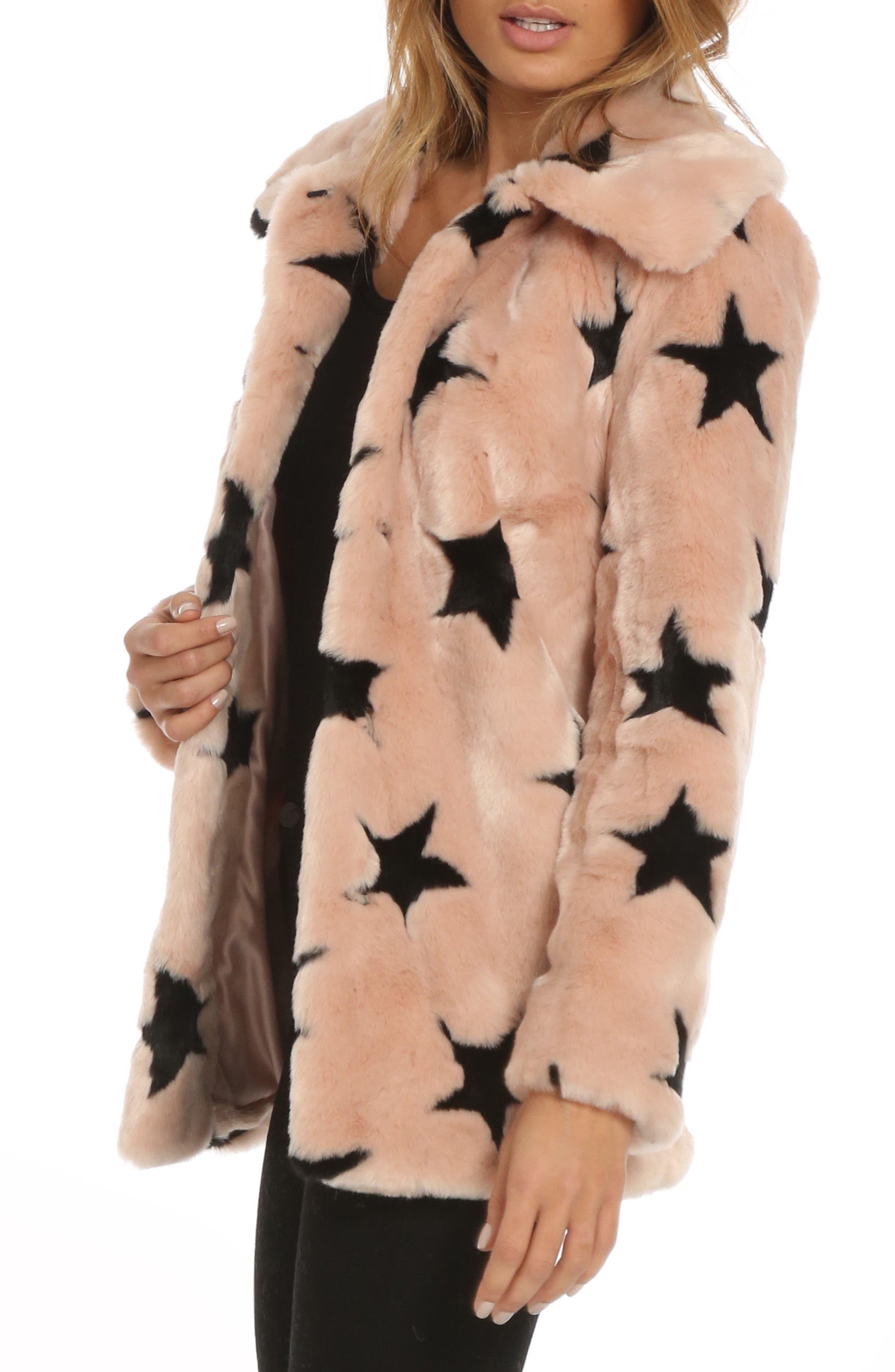 Alternate Image 3  - Avec Les Filles Faux Fur Swing Coat