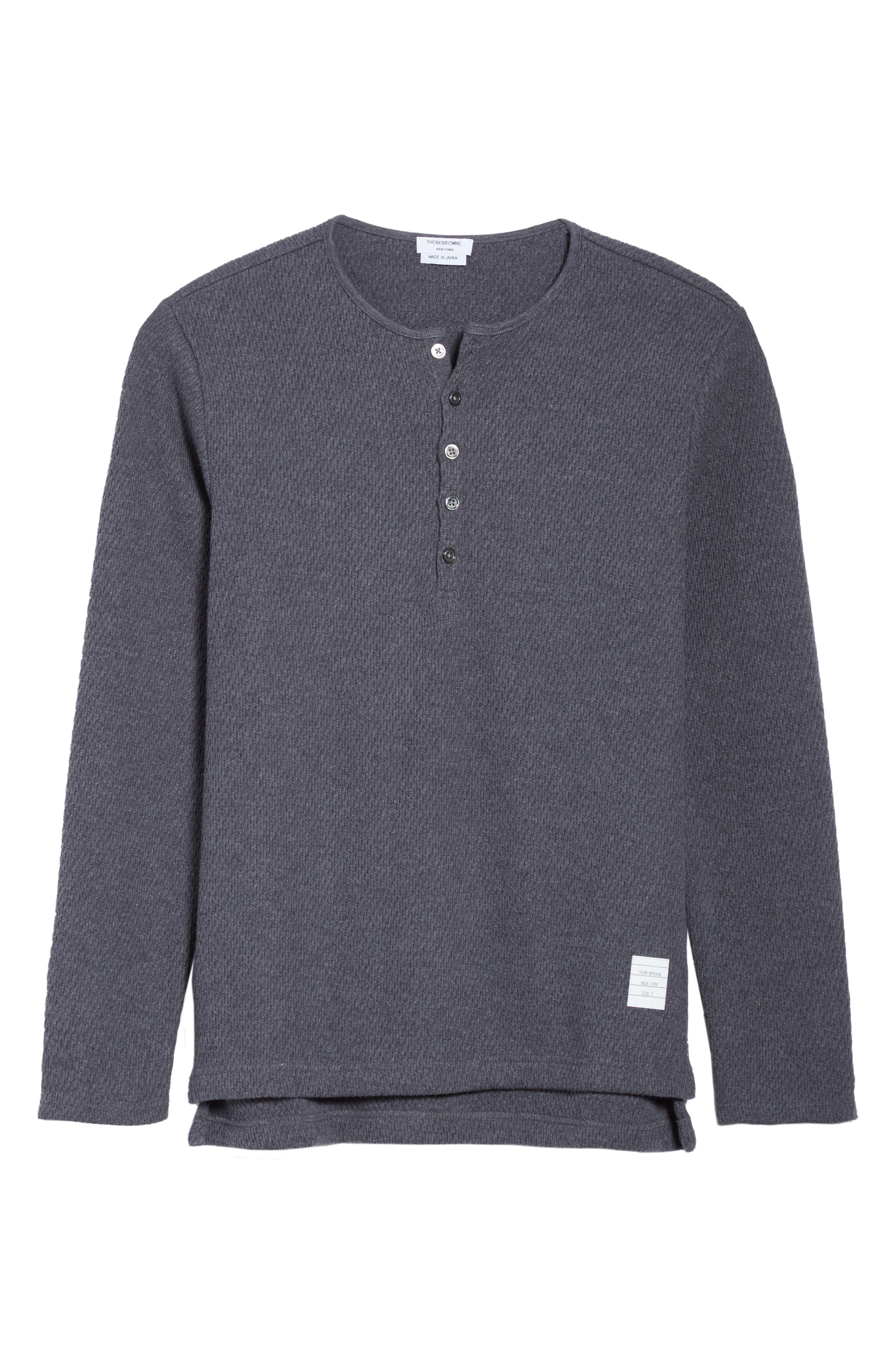 Alternate Image 6  - Thom Browne Knit Cotton Henley