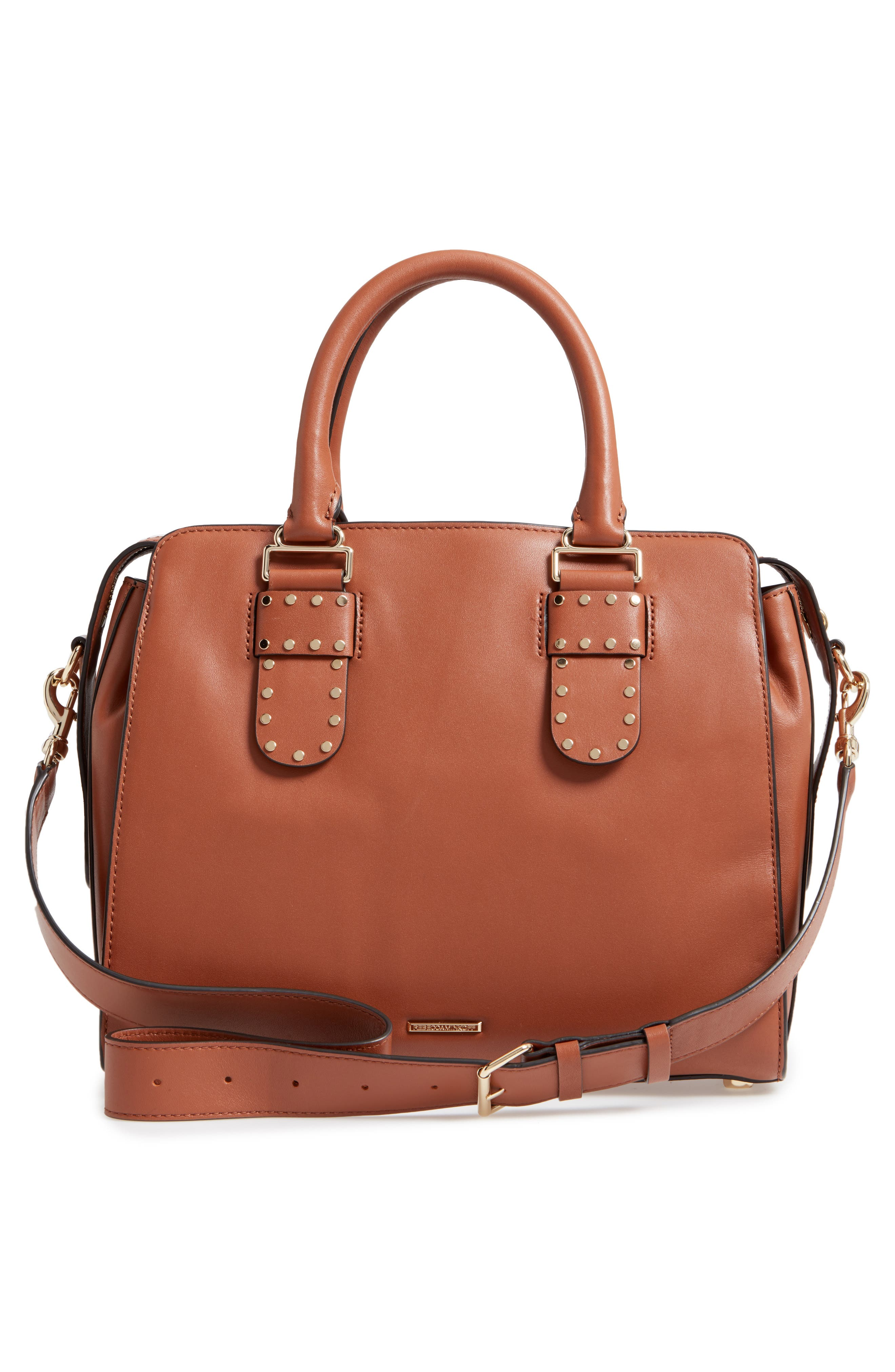 Midnighter Leather Work Tote,                             Alternate thumbnail 3, color,                             Almond