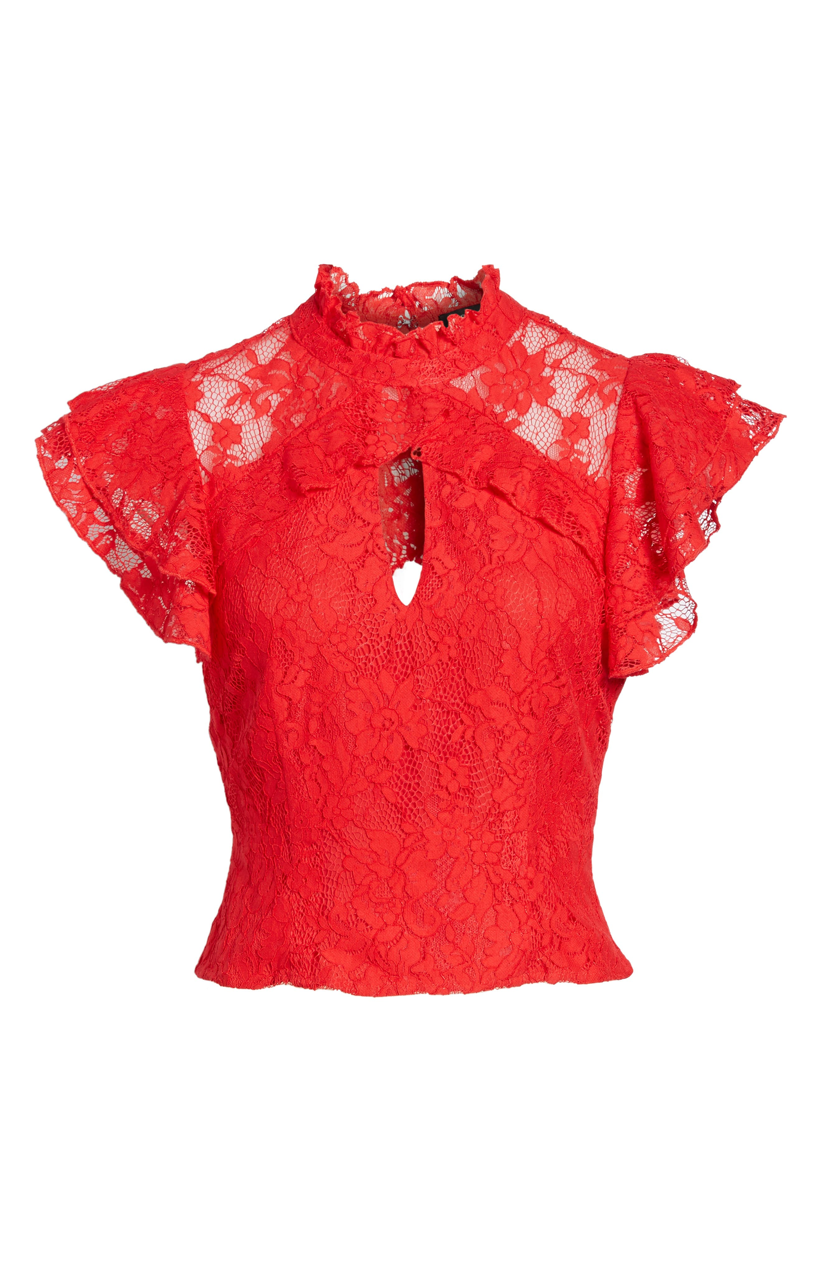 Alternate Image 6  - AFRM Blaire Ruffle Lace Top